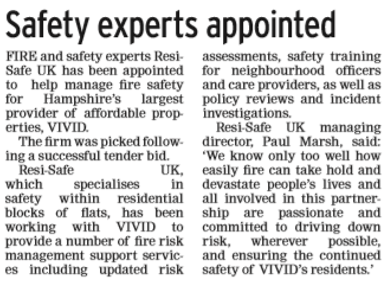 Partnership with VIVID featured in the Portsmouth News