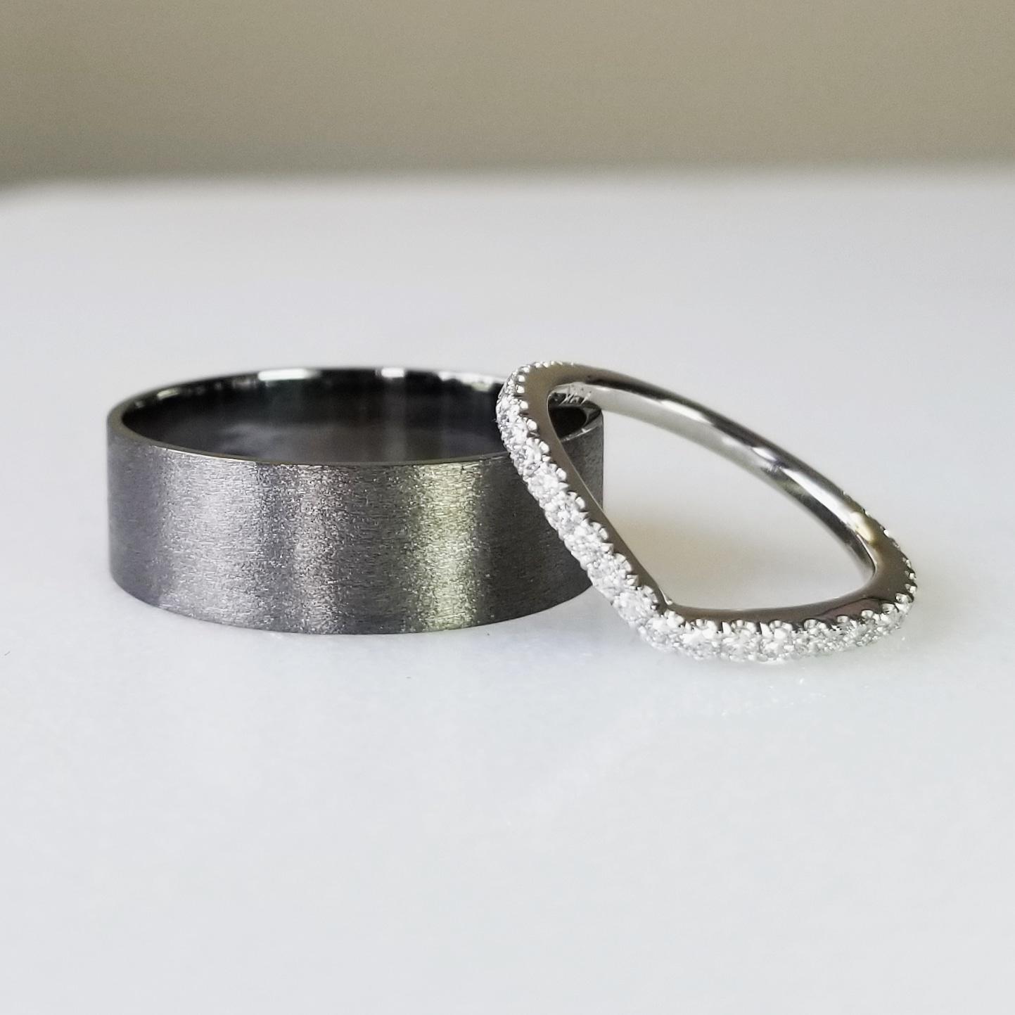 Custom Black Men's Wedding Ring Toronto .jpg