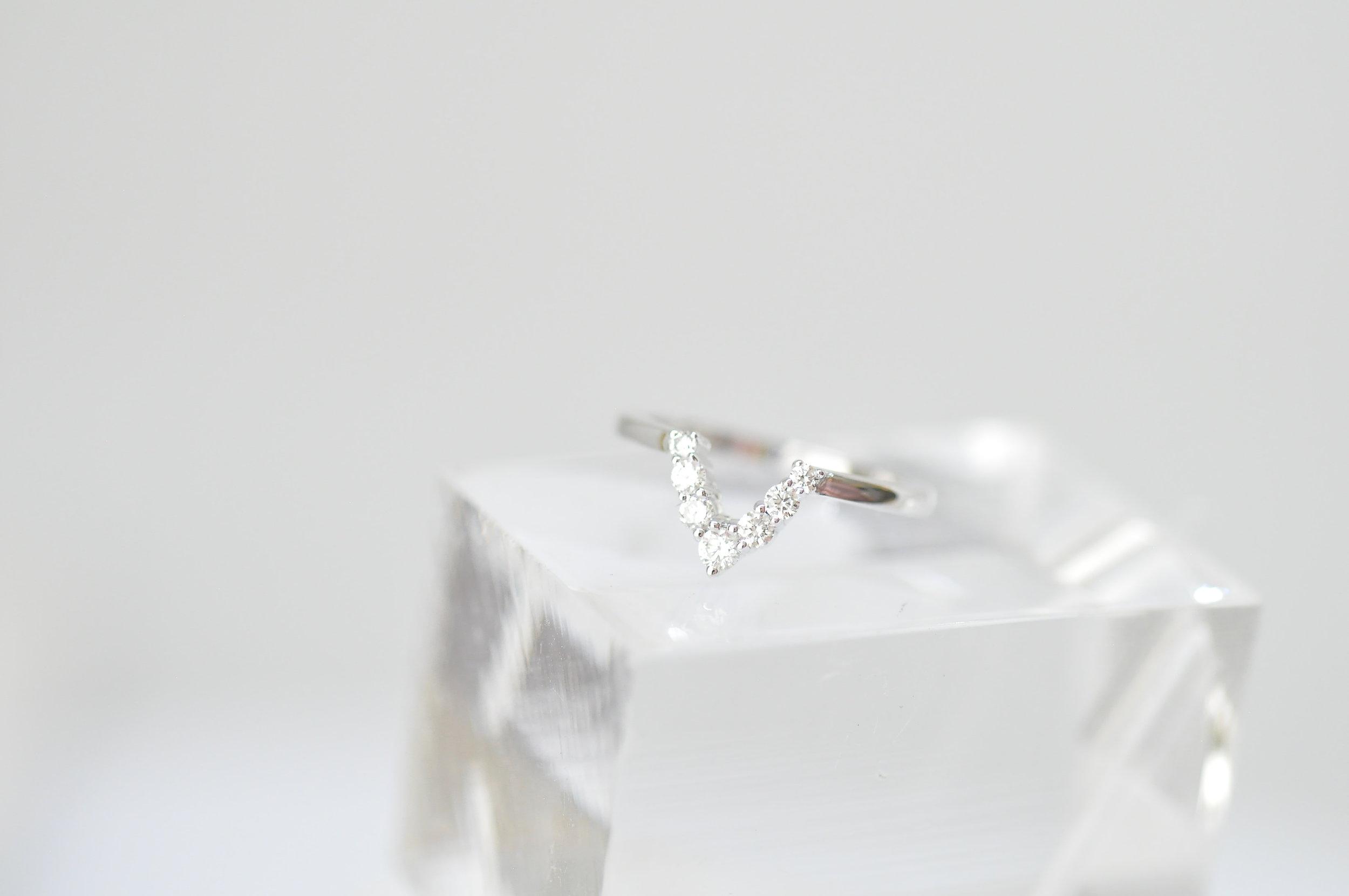 Custom Diamond V Wedding Ring .JPG