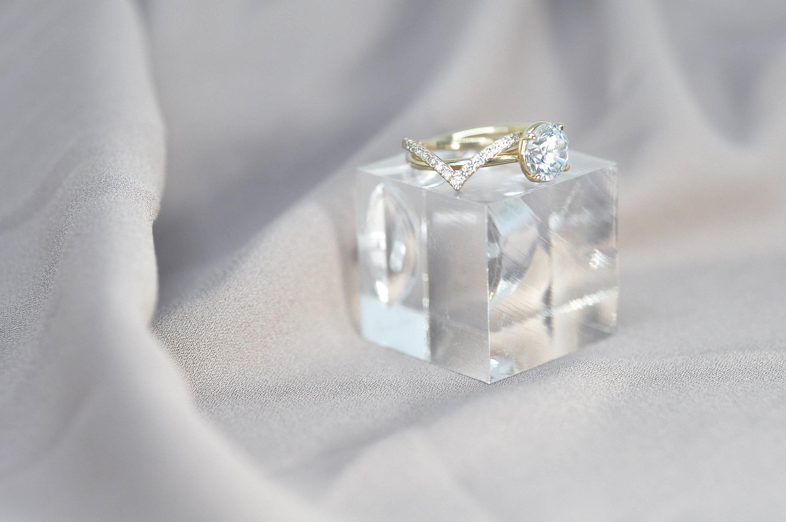 Custom V, Chevron Matching Wedding Ring.jpg