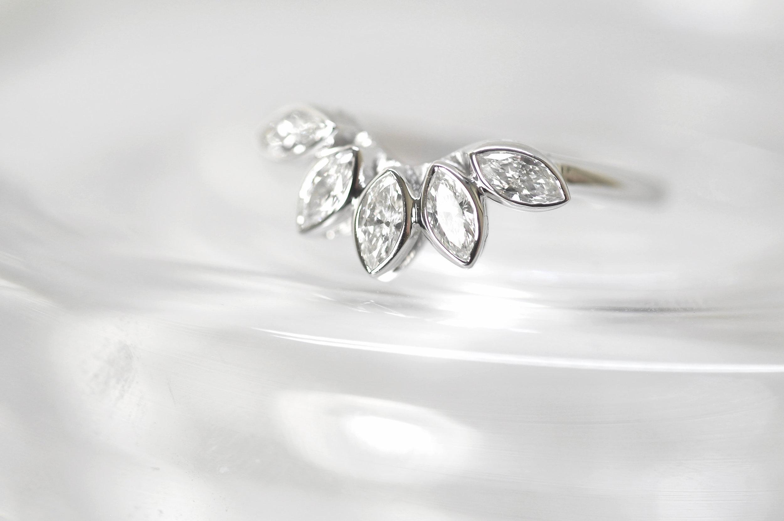 Unique Floral Diamond Wedding Ring Toronto.jpg