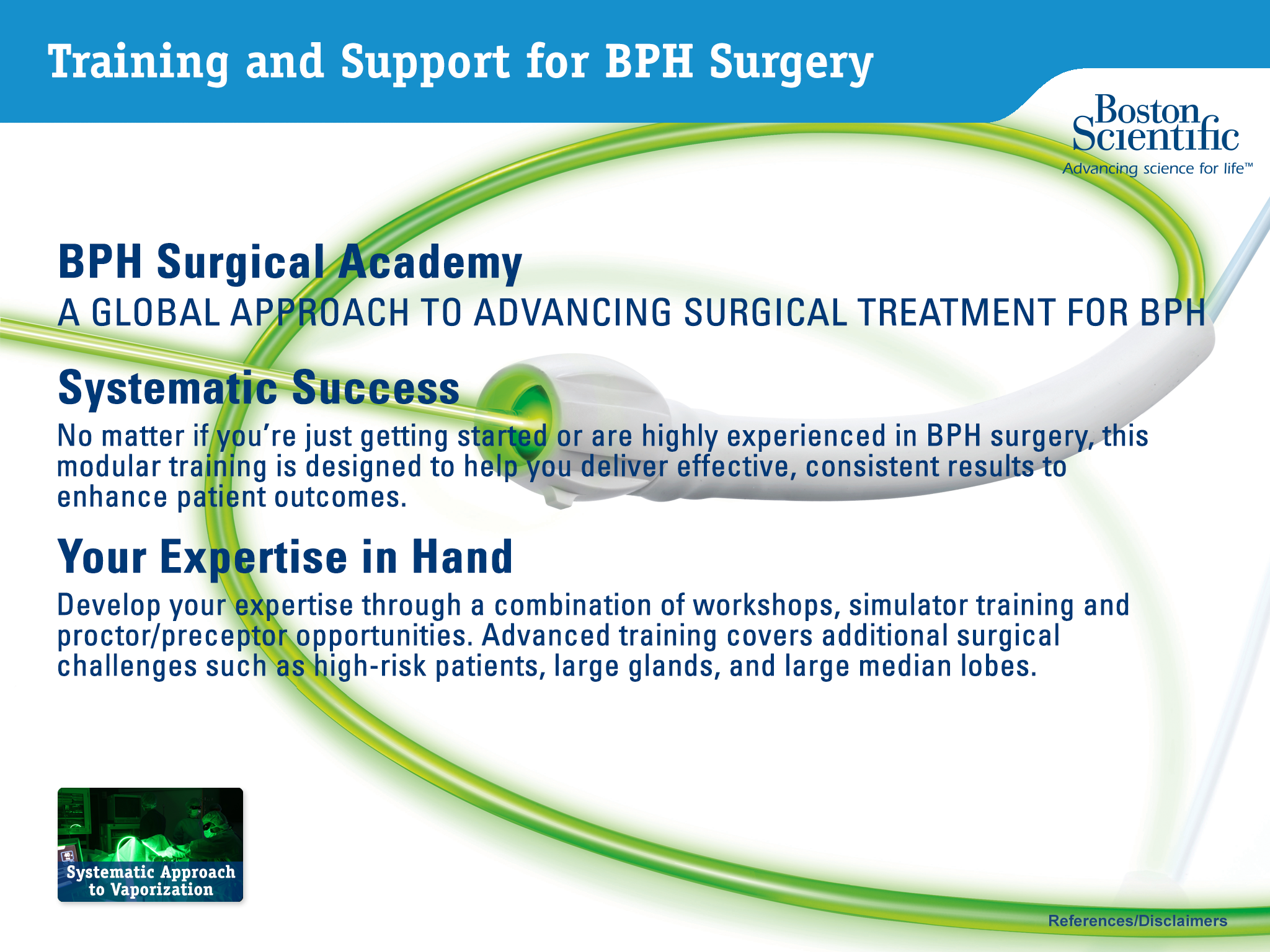 Training and Support for BPH Surgery