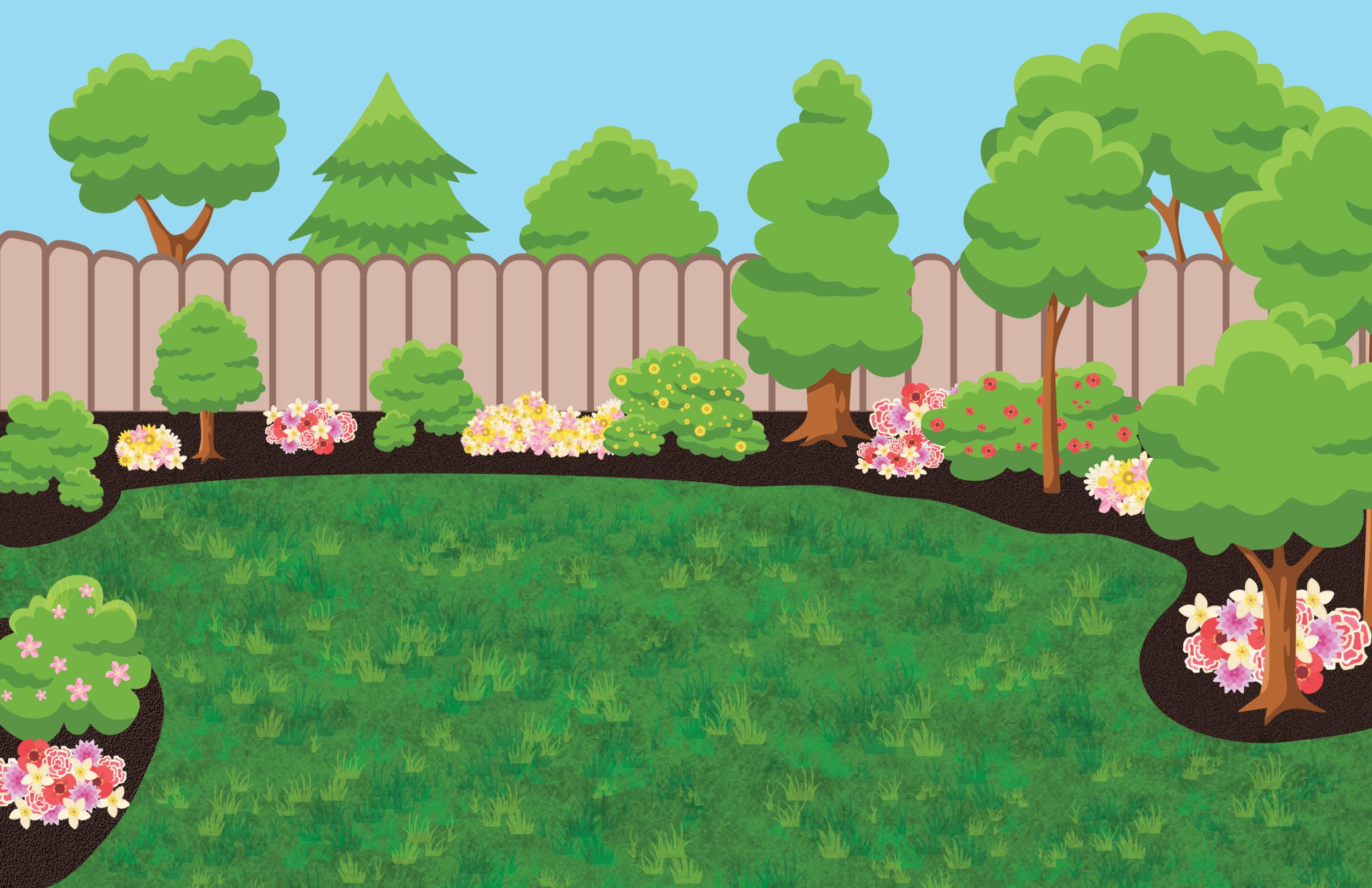 AR Fenced-In Backyard Background