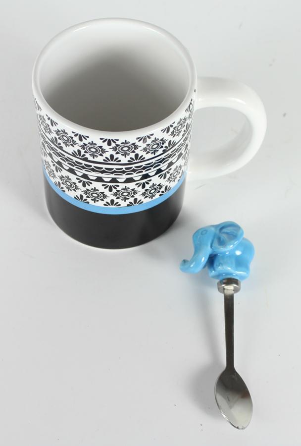 Elephant Mug with Spoon