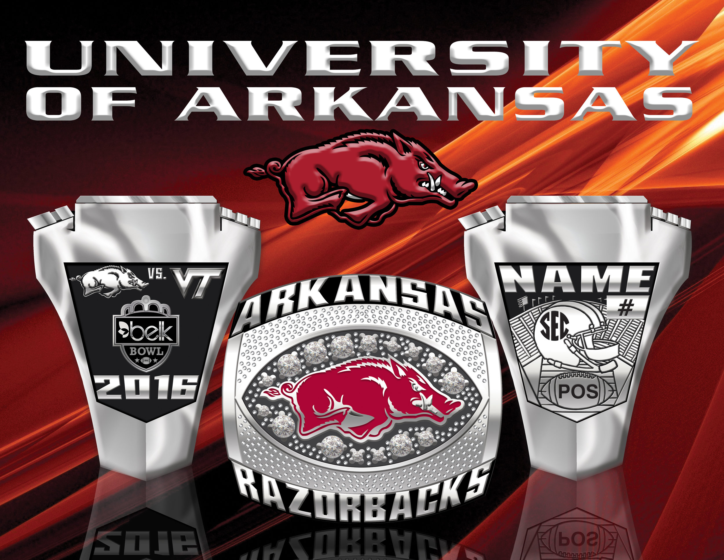 University of Arkansas Razorbacks Champ Ring