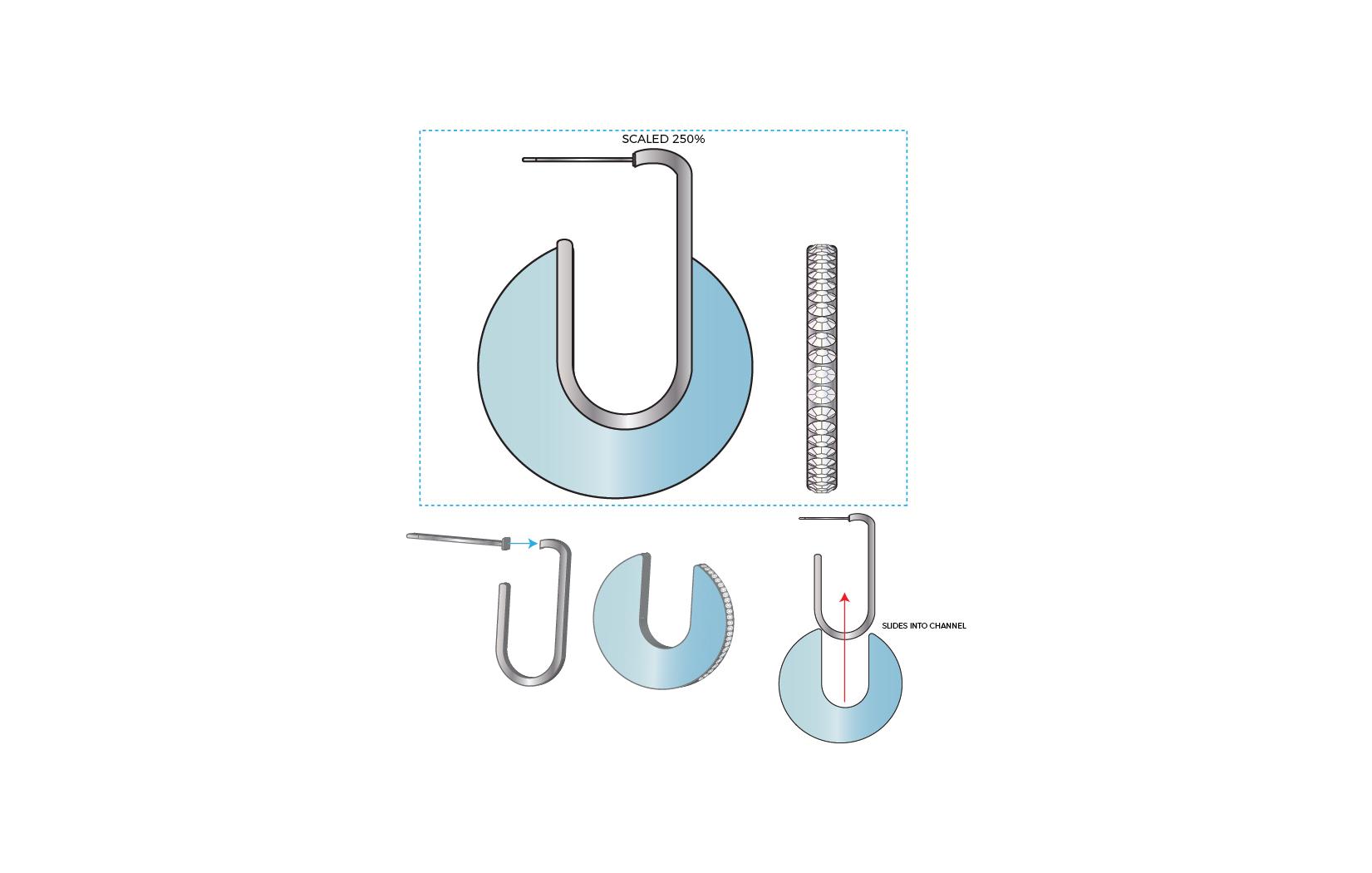 Sliding Earrings Concept A