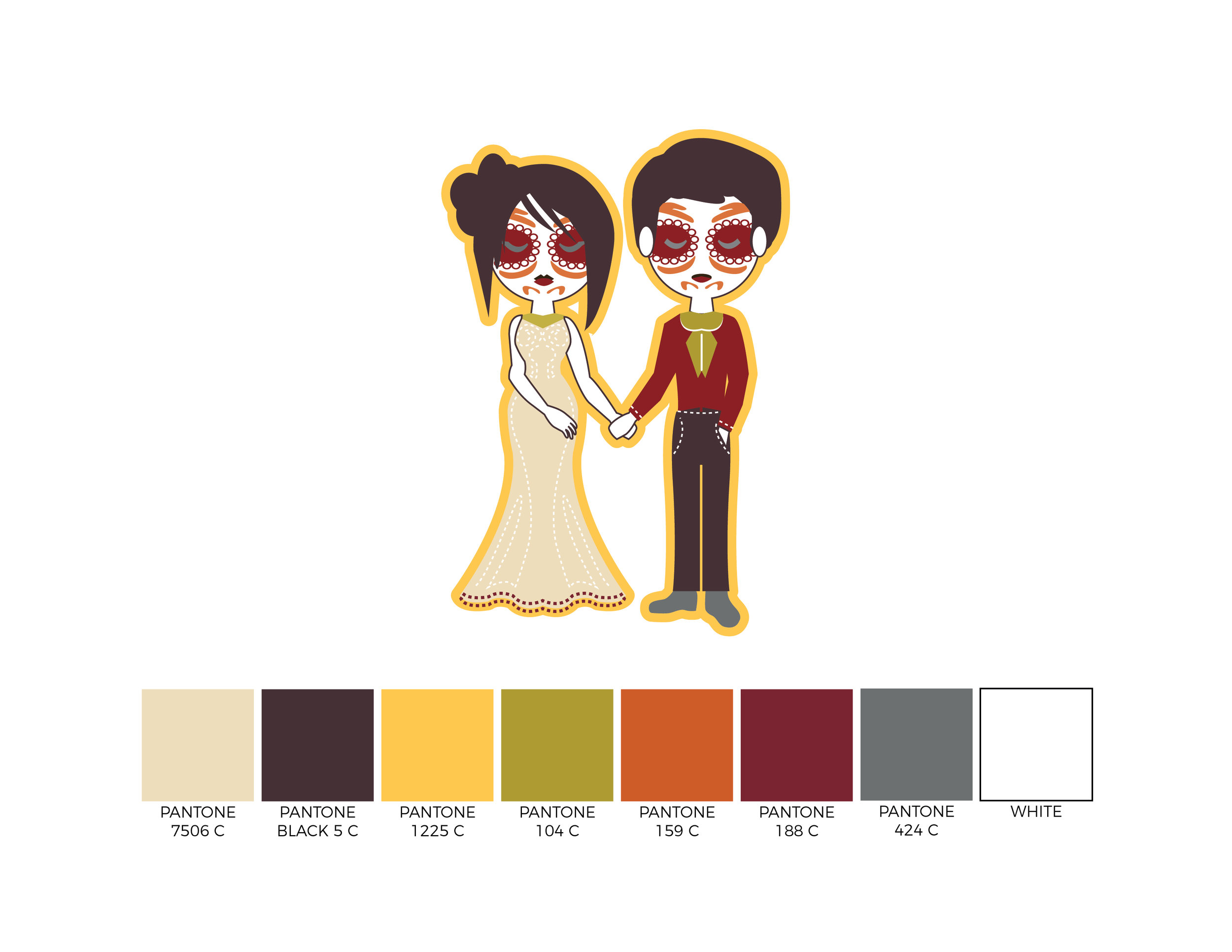 2017 Mr & Mrs Halloween Couple Design