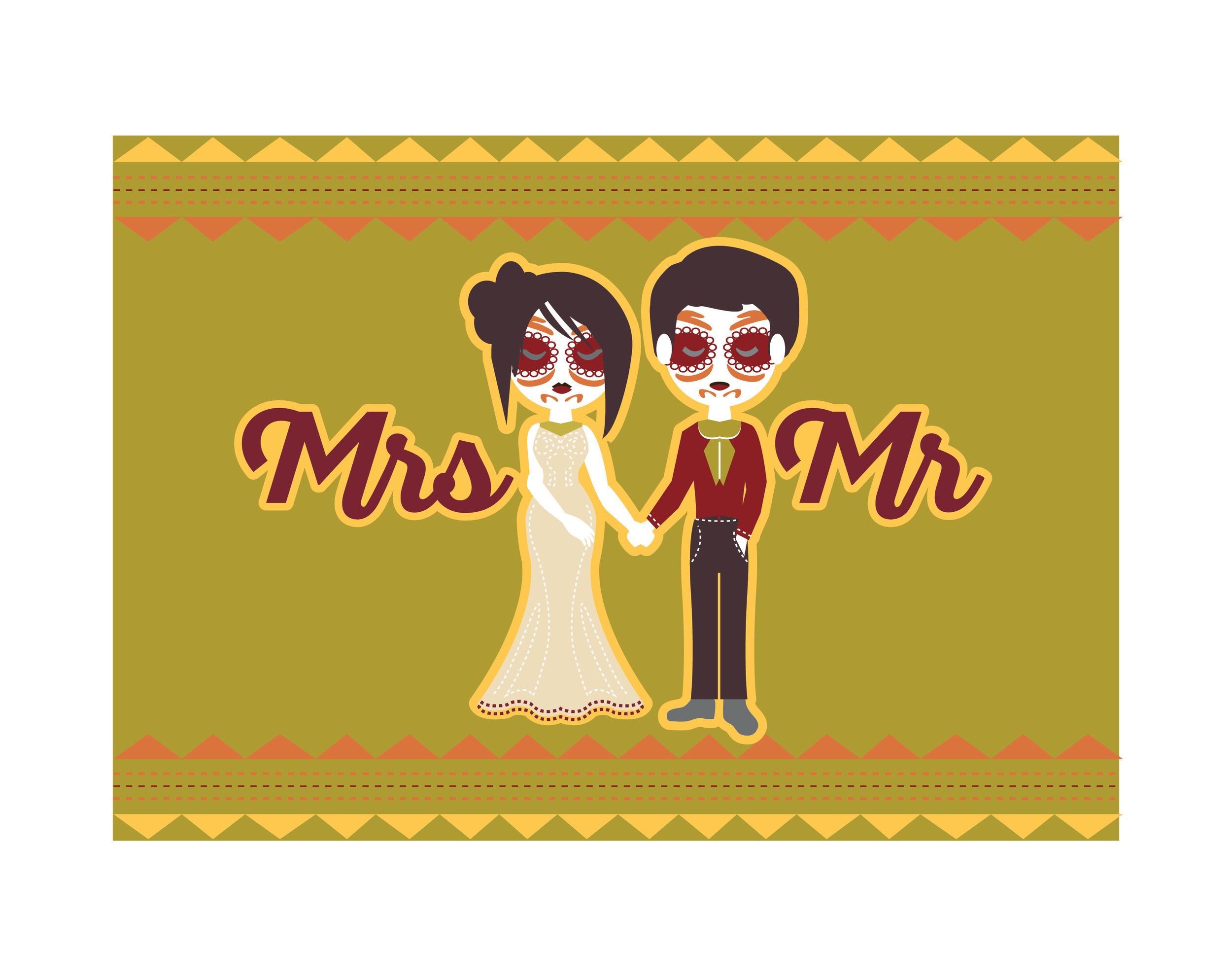Mr & Mrs Halloween Couple Placemat