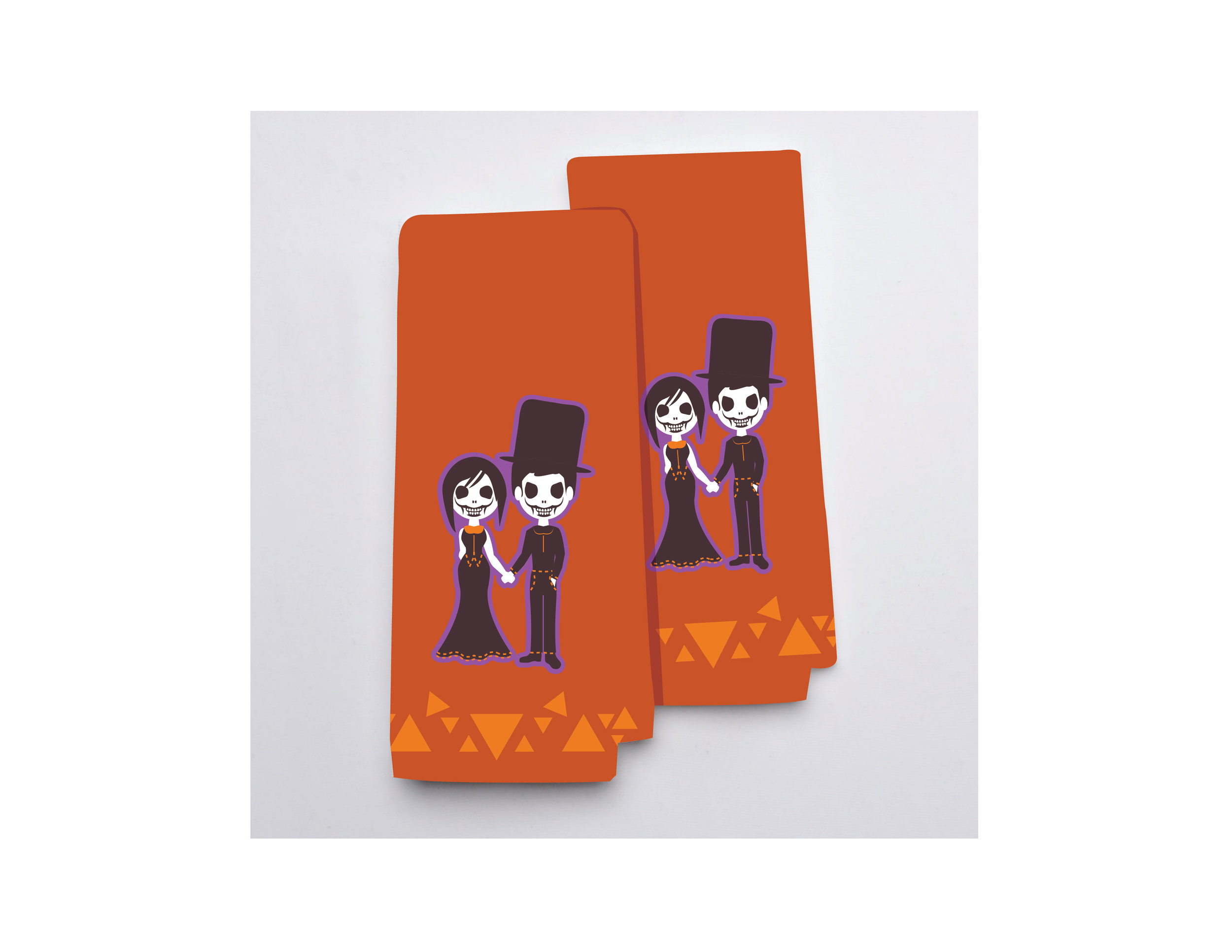 Undead Couple Hand Towels