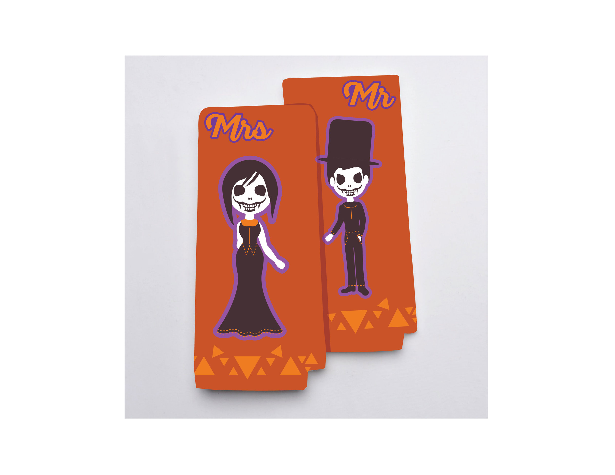 Mr & Mrs Undead Couple Hand Towels