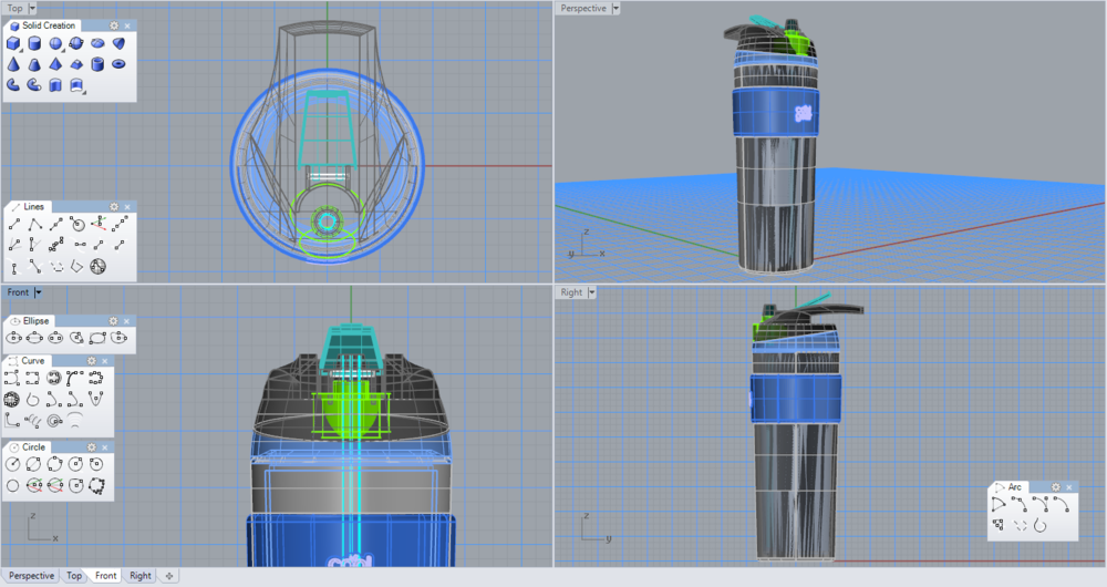 Reusable Water Bottle Wireframes