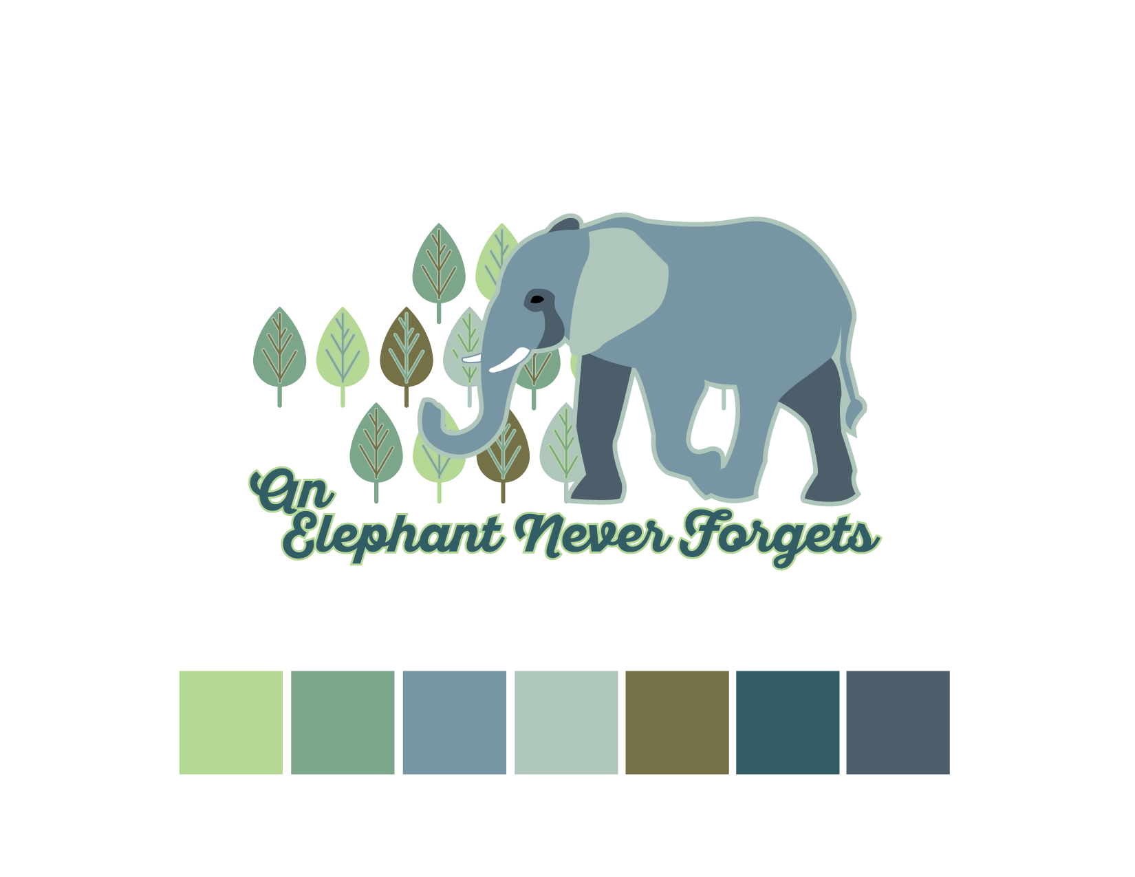 African Elephant Color Palette