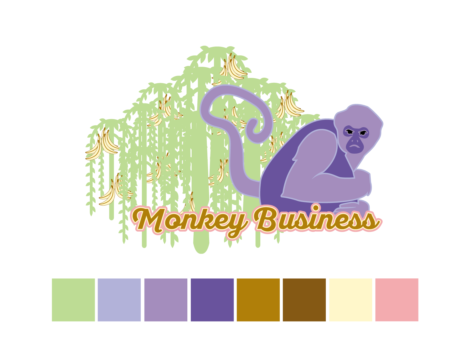 Black Spider Monkey Color Palette