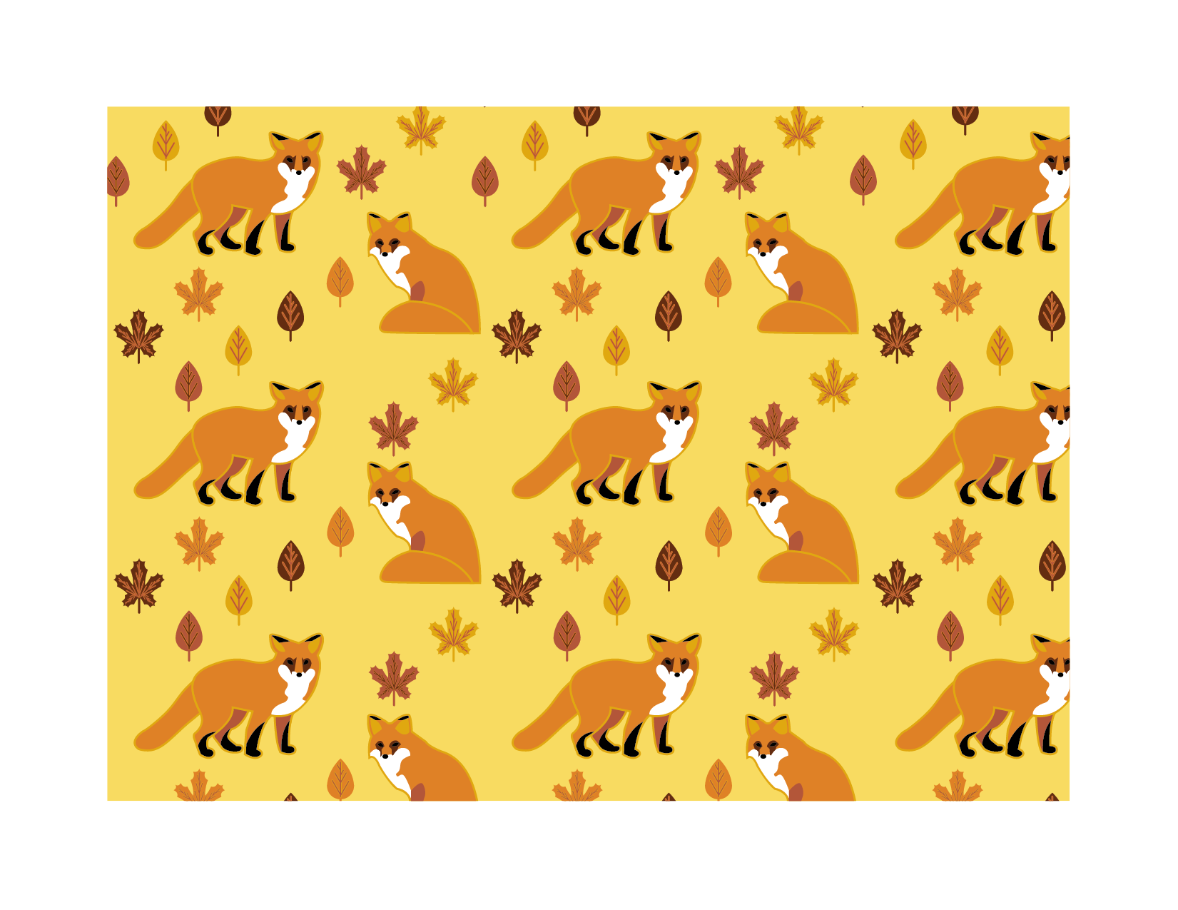 Fall Fox Pattern