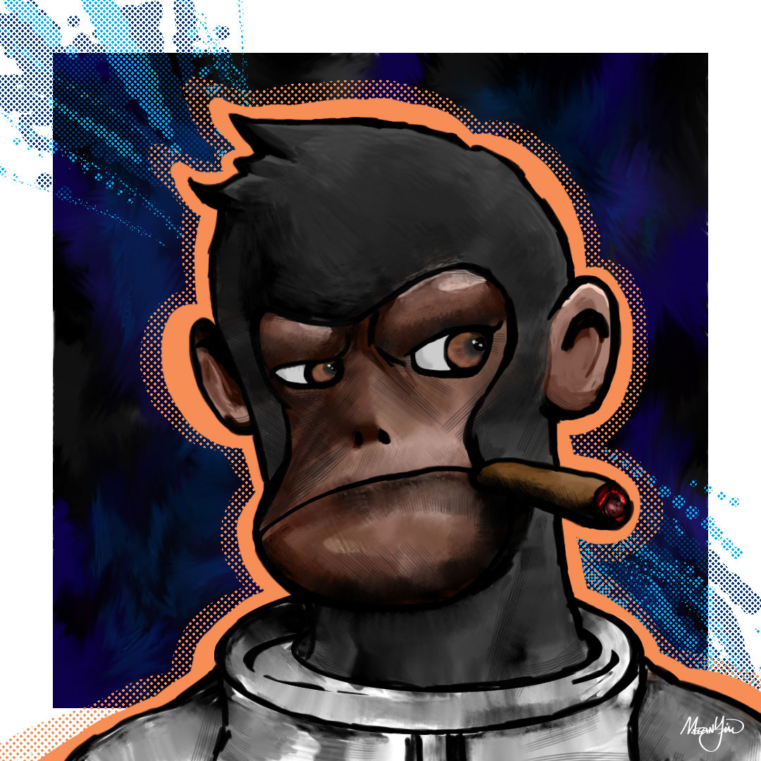 Space Monkey Digital Painting