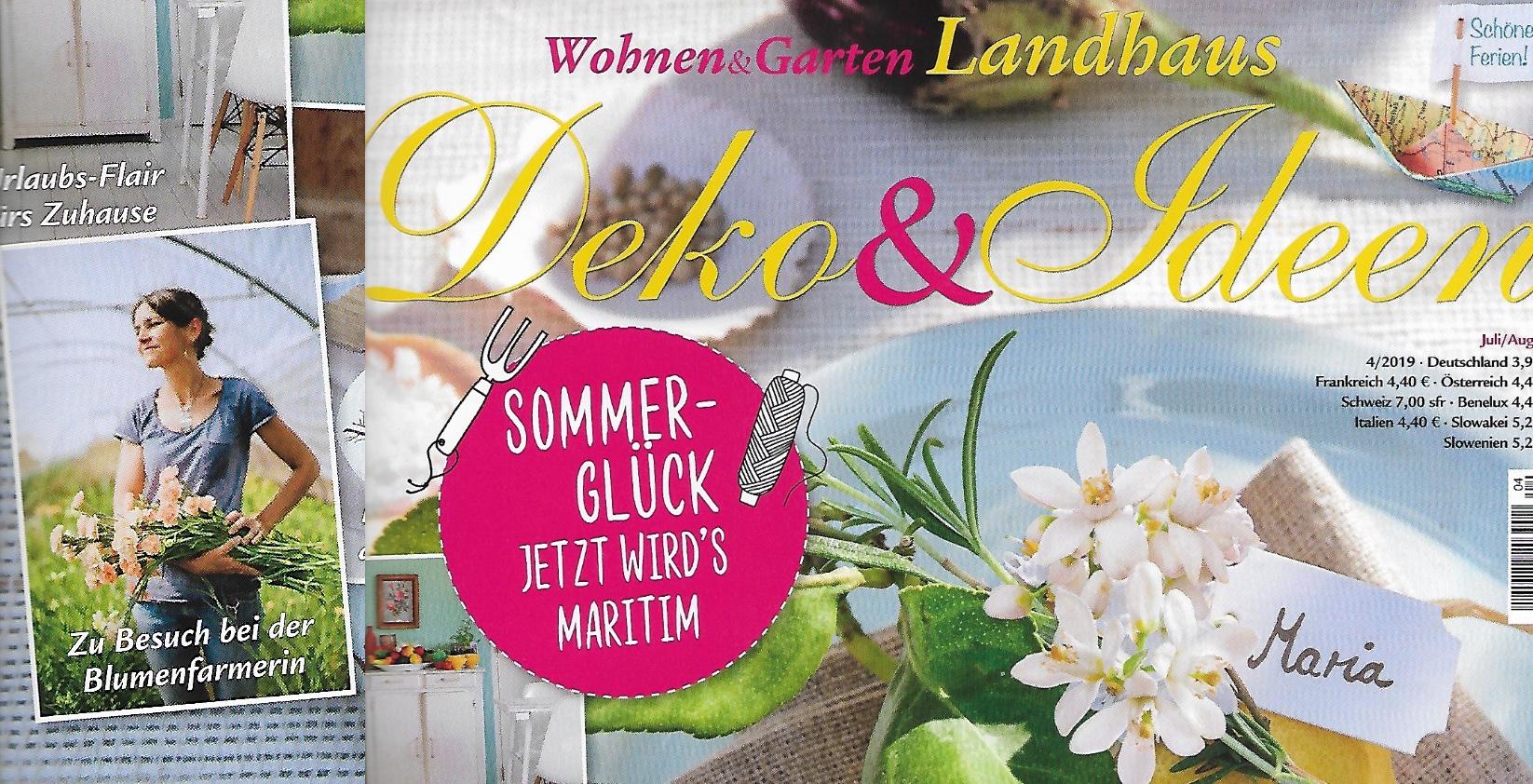 Wohnen & Garten Landhaus - Juli-August 2019 Die Farmer-Floristin: Im Königsland baut Nicole Schenkel-Zureikat Schnittblumen in Bio-Qualität an.