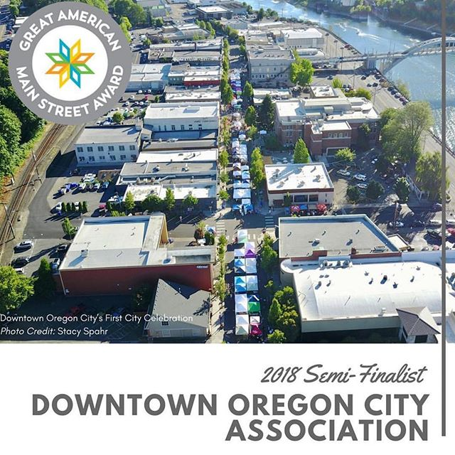 On Monday, @natlmainstreet will be announcing the three winners of the 2018 Great American Main Street Awards (GAMSA) at the national conference in Kansas City! @downtownoregoncity is one of ten finalists and is honored to share this nomination with the Oregon City community, downtown businesses, property owners, volunteers and supporters ✨👌🏻💚 #downtownoregoncity #supportlocal #gamsa2018 #gamsa #oregoncity