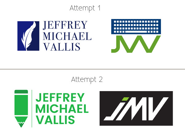 The logos I received from my Fiverr purchase.