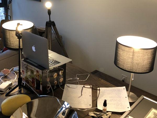 My video interview setup.