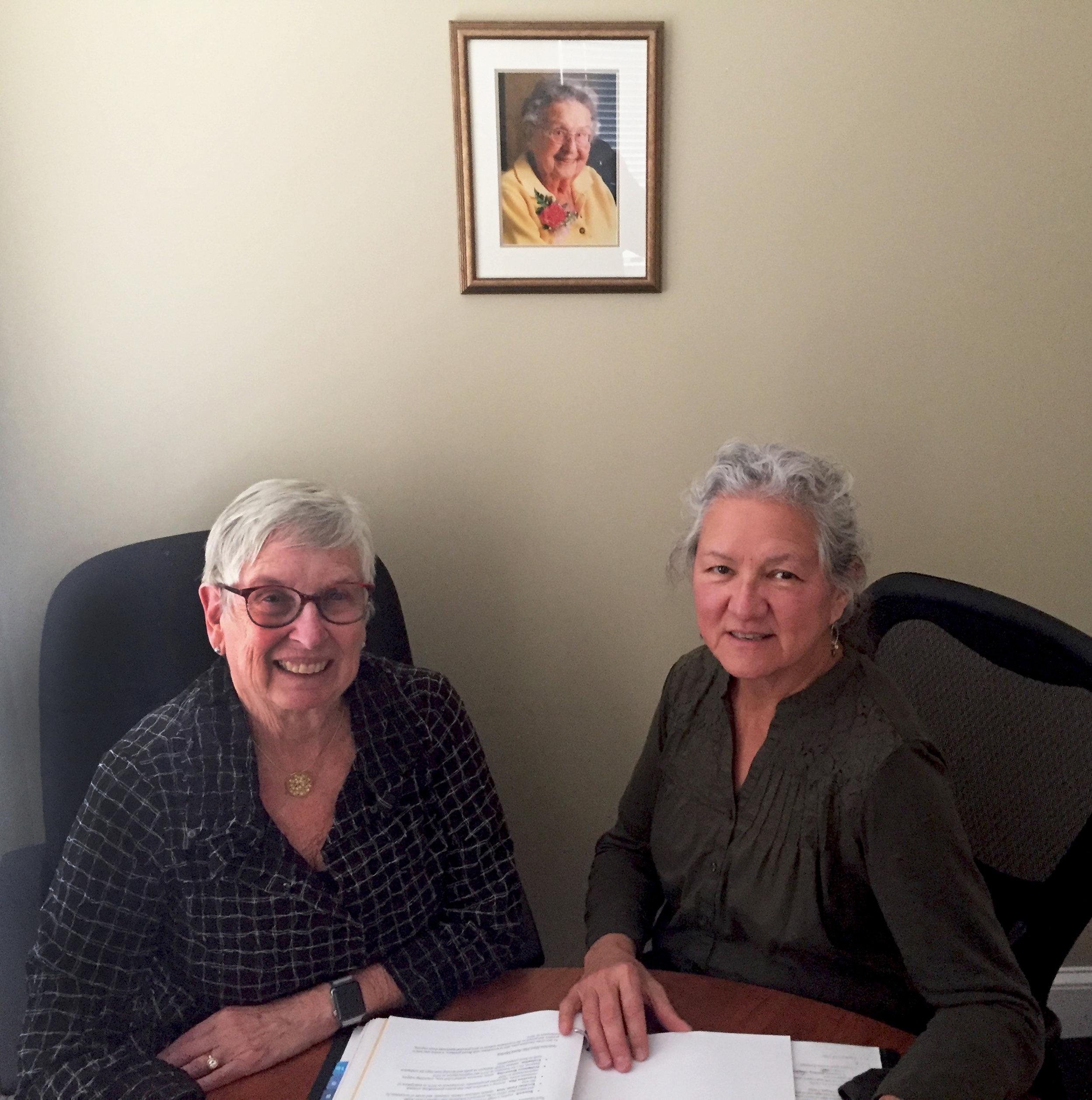 Carol Wishcamper and Gail Dana-Sacco