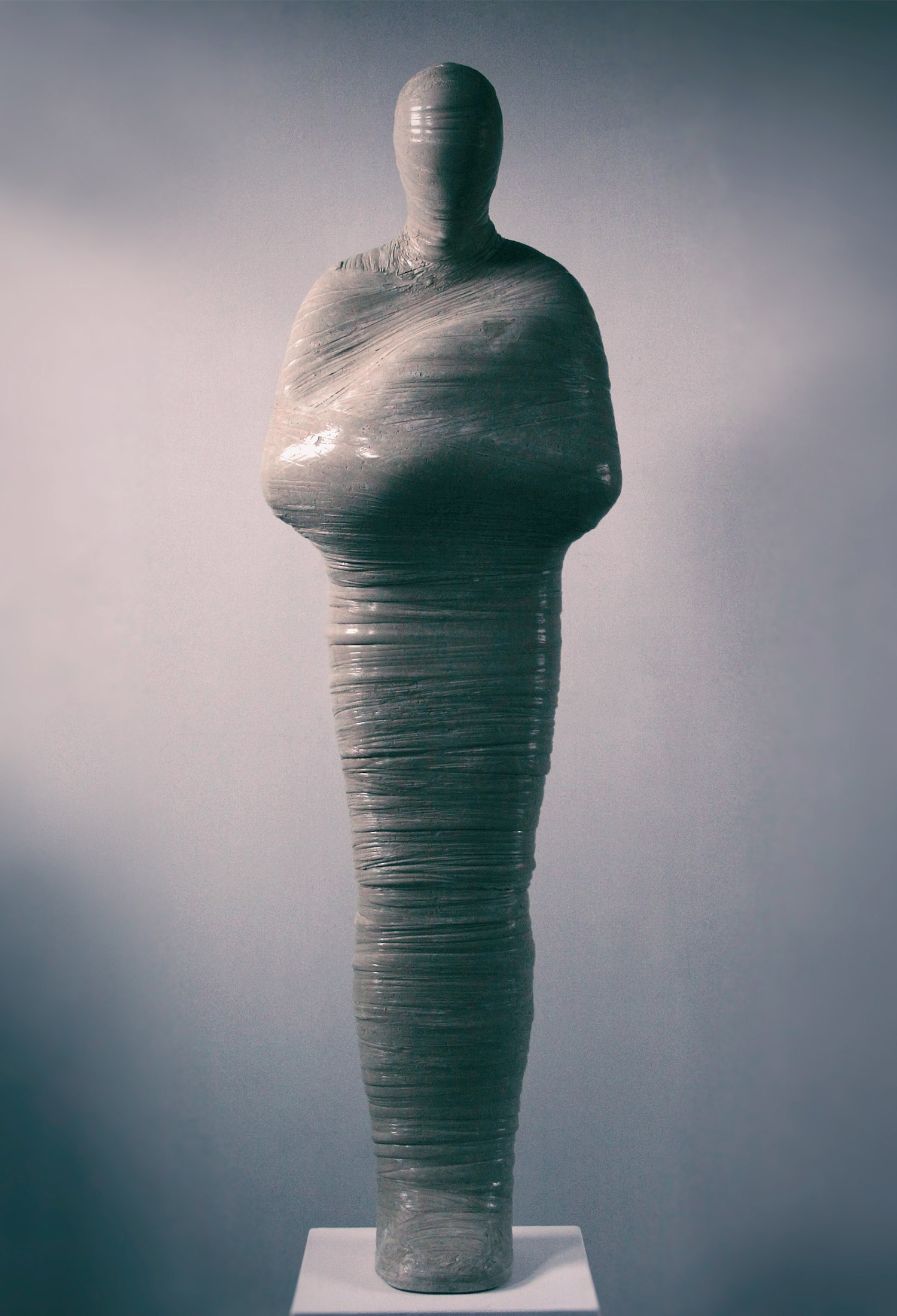 Strange Situation  .  2015 . Gypsum . 75 x 22 x 16 in