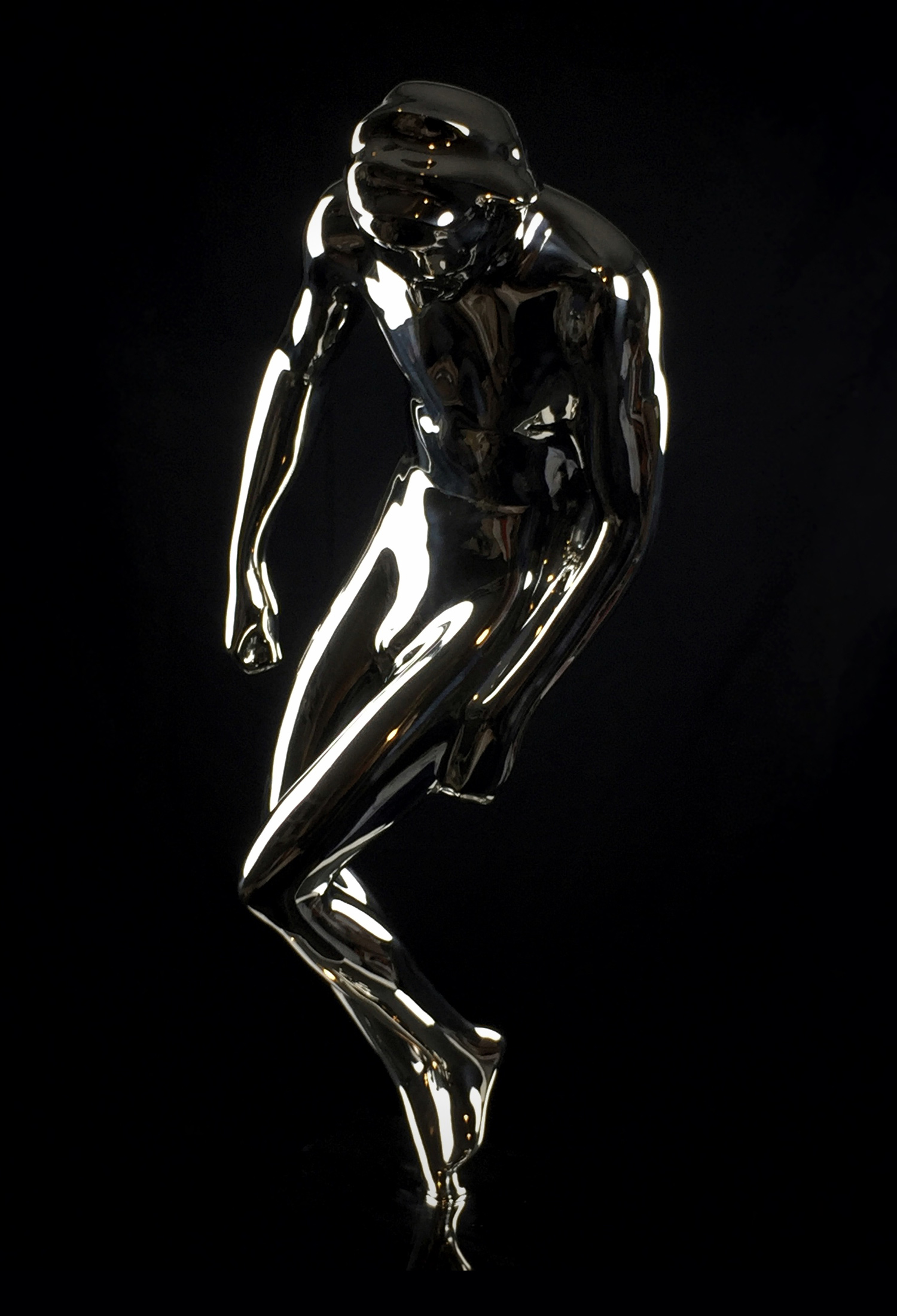 starsuit is a stainless steel sculpture by Emil Alzamora
