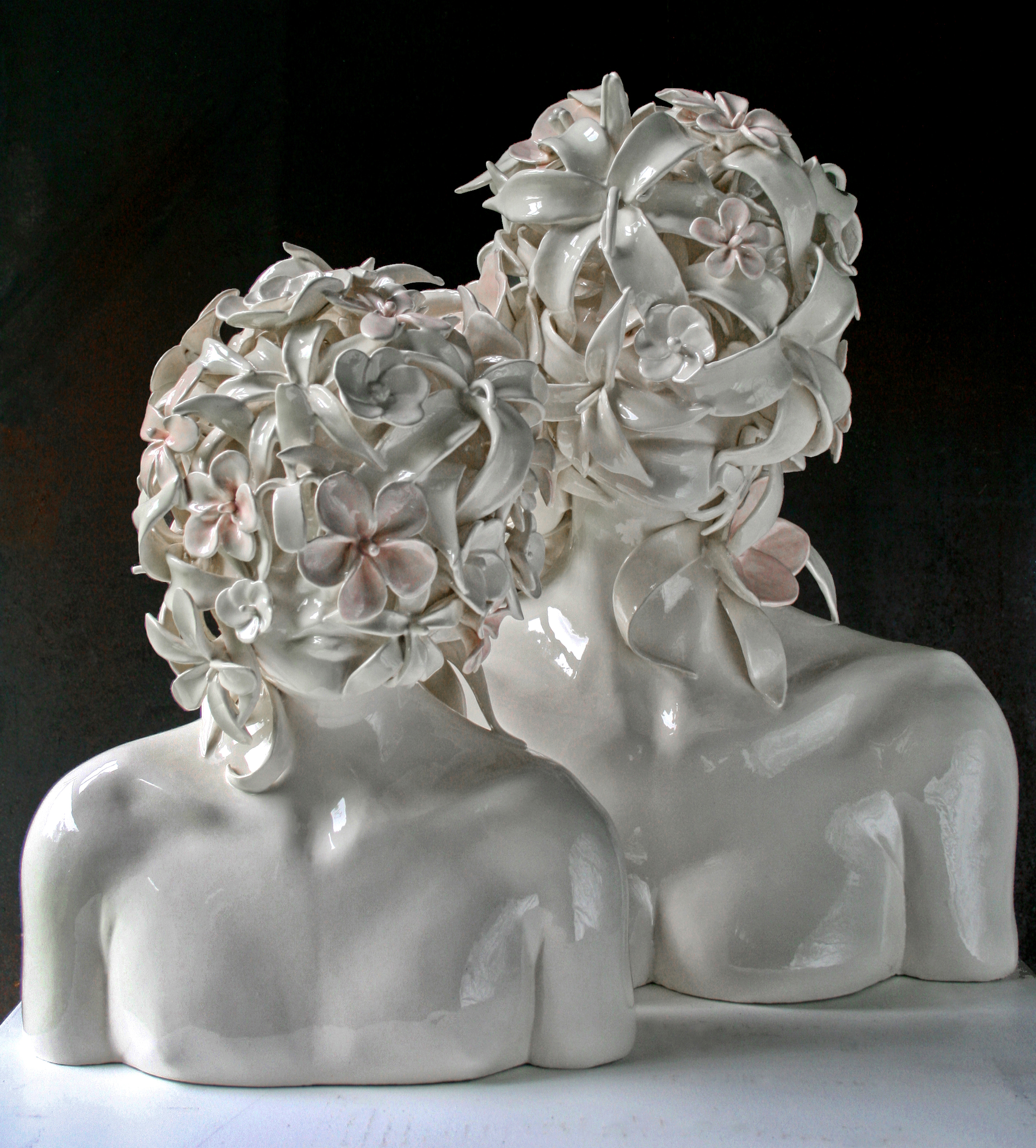 MOTHER AND CHILD  (Series) . 2010, Ceramic, 20 x 24 x 14""