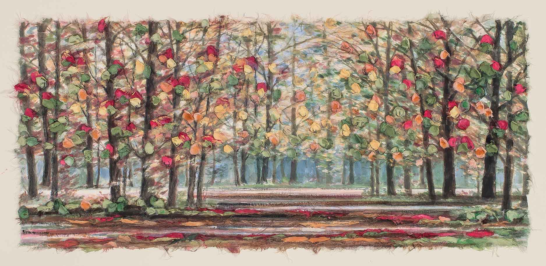 Autumn Road 12x22