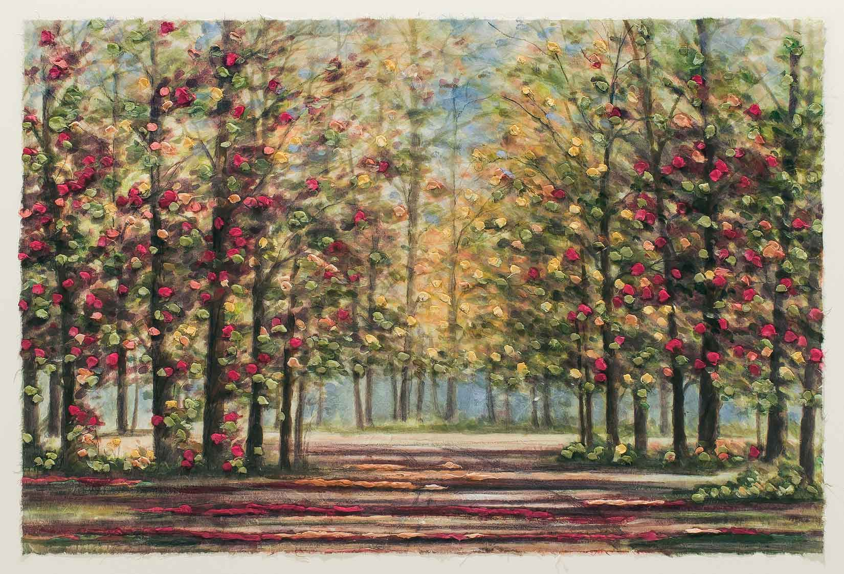 Autumn Road 22x30