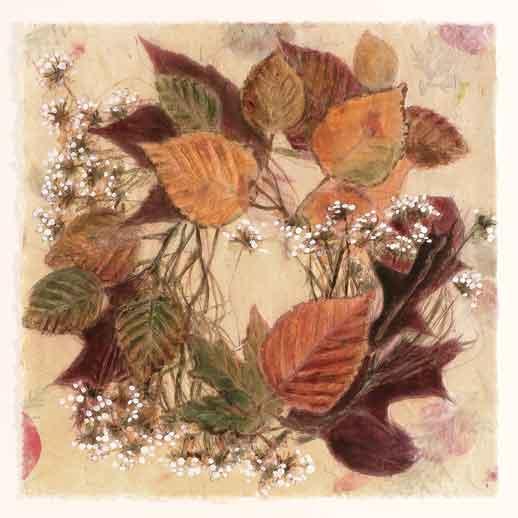 Autumn Leaves Circle 16x40