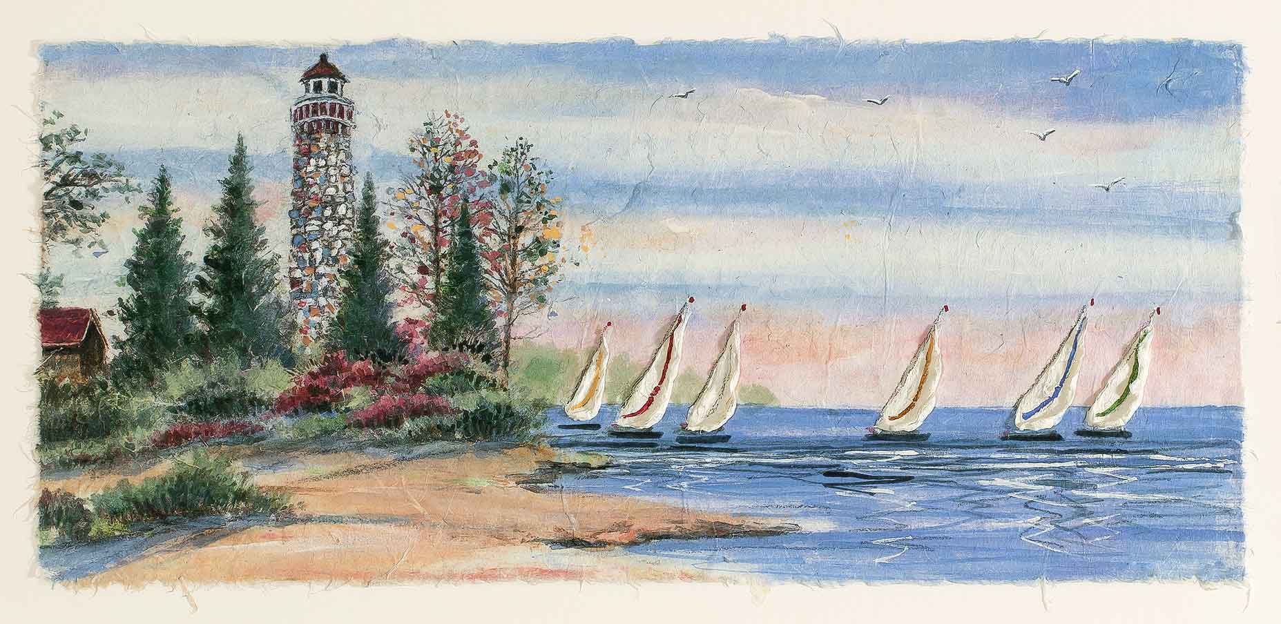 Summer Sailboats 5x18
