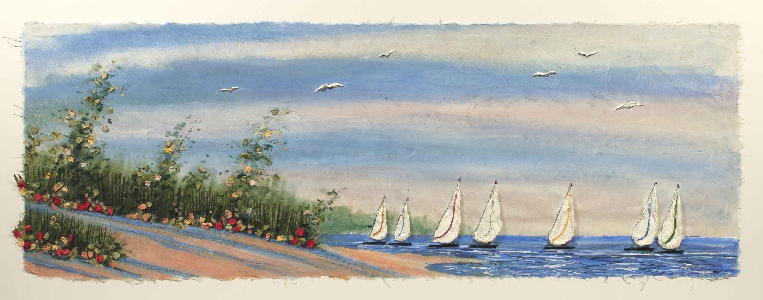 Summer Sailboats 16x36
