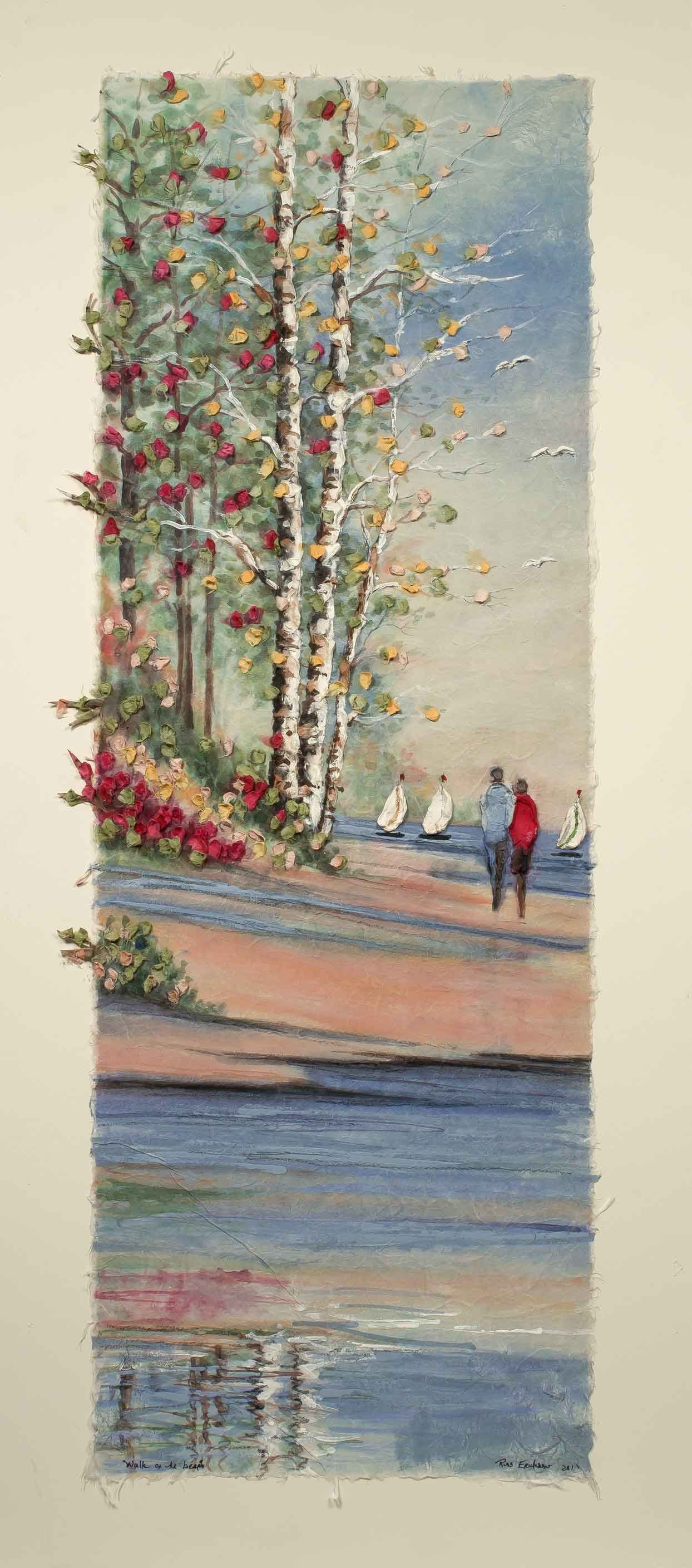 Walk on the Beach 12x22