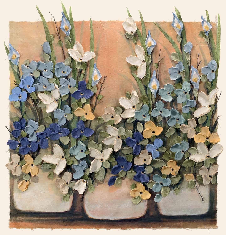 Copy of Blue Pots 30x30