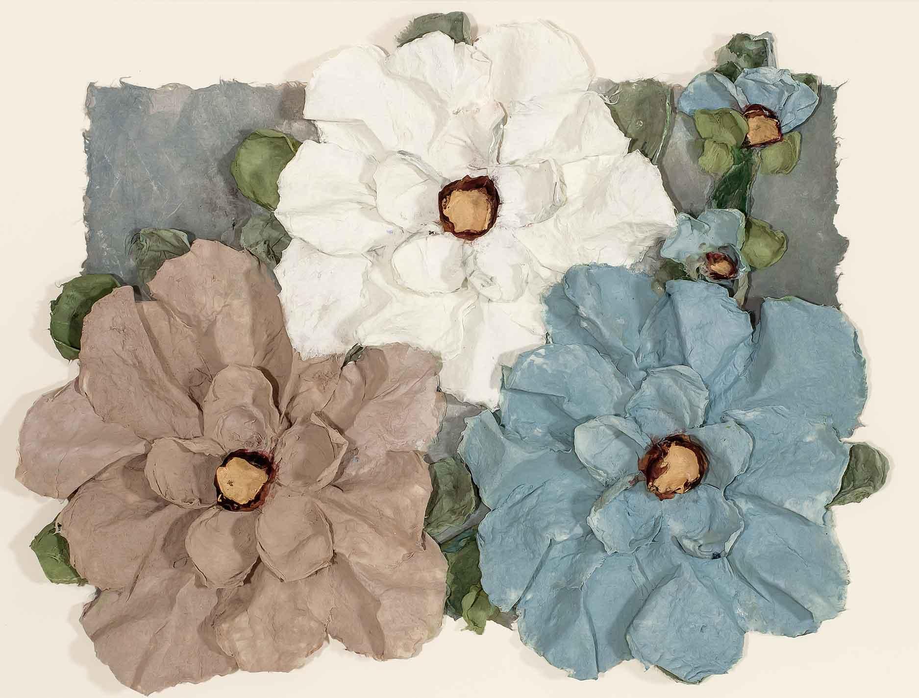 Copy of Aqua Flowers 22x30