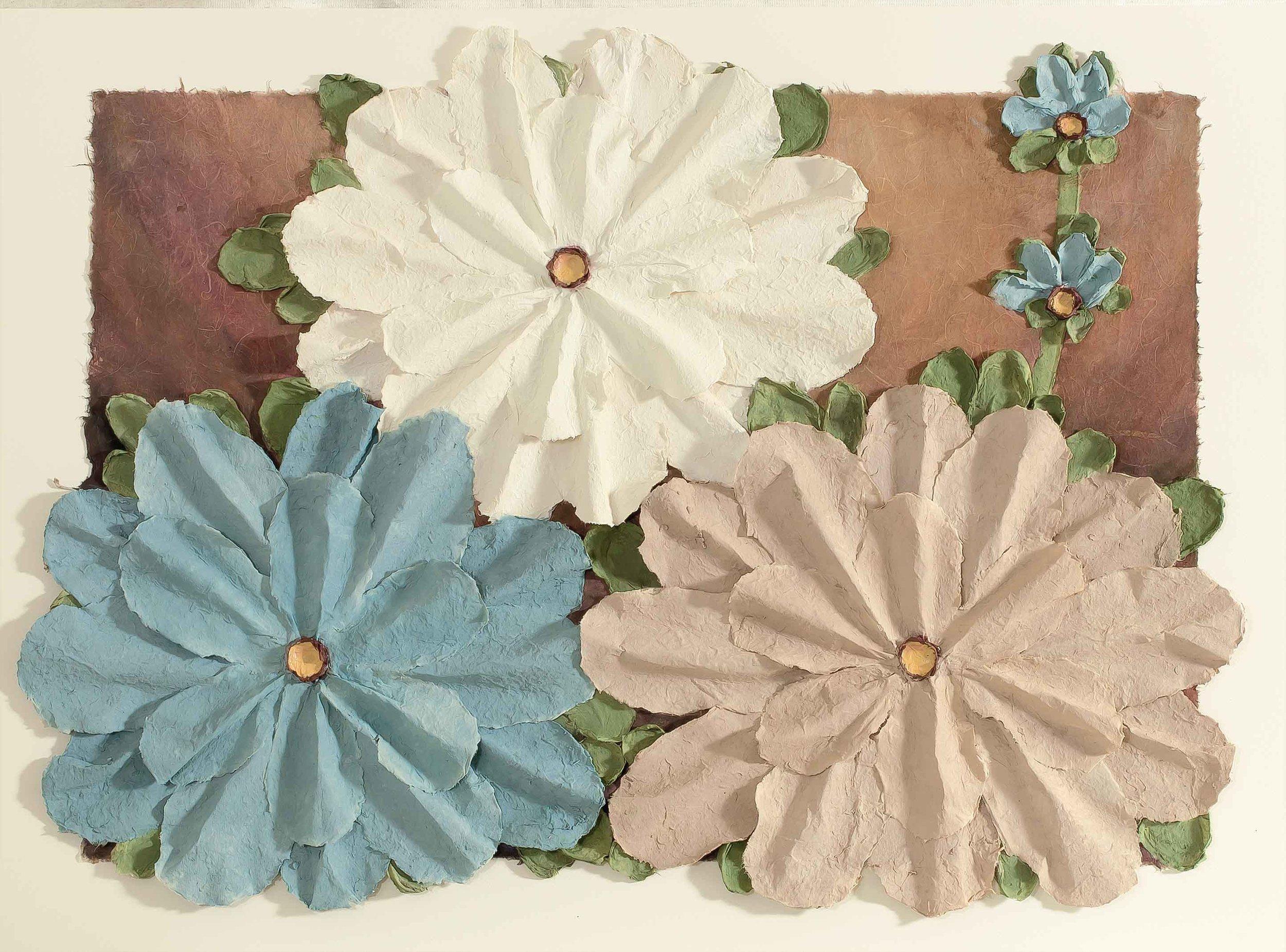 Copy of Aqua Flowers 11x14
