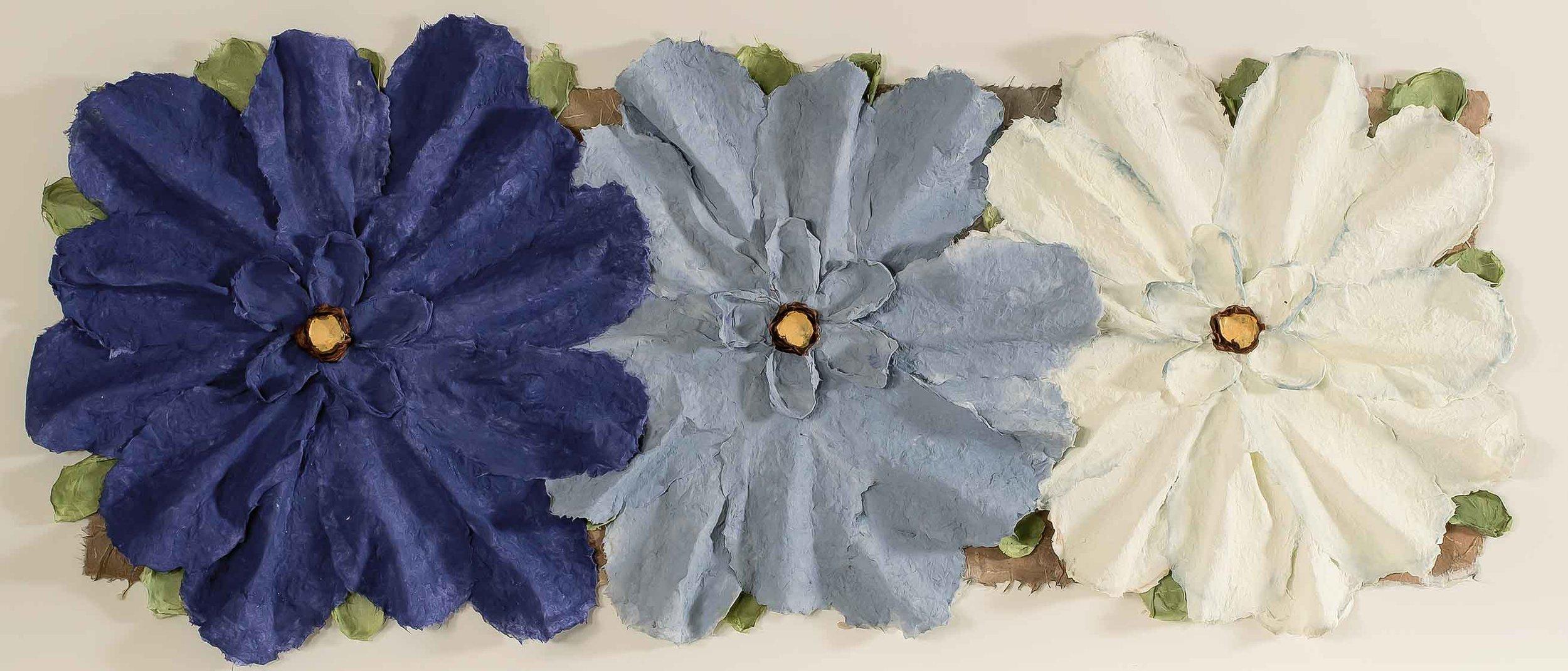 Copy of 3 Piece Blue Flowers 5x18