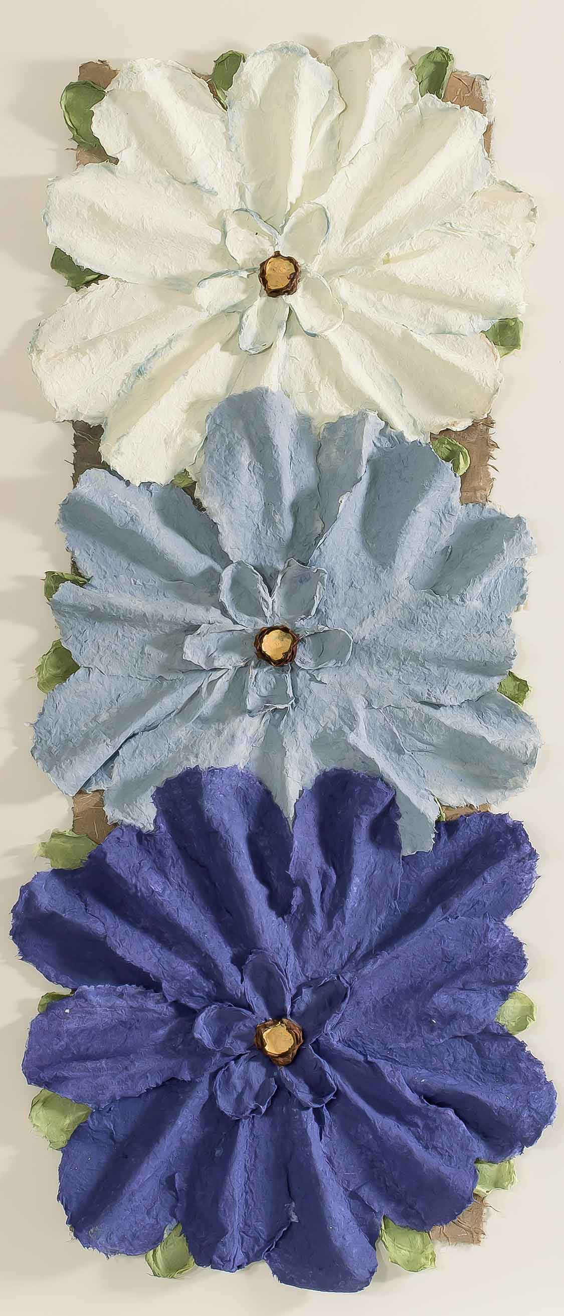 Copy of 3 Piece Blue Flowers 16x36