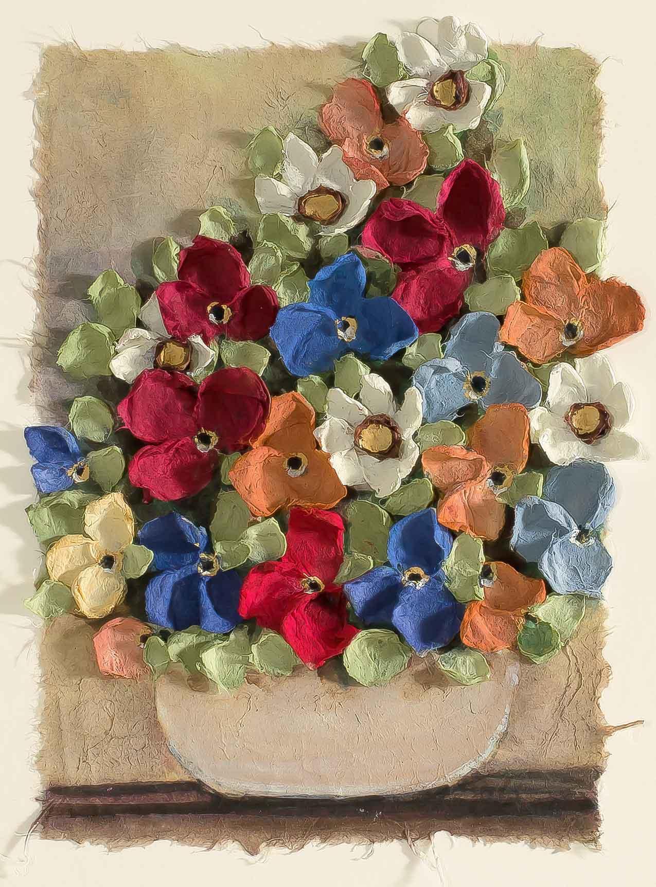 Copy of Mist Floral Pot Vertical 12x22