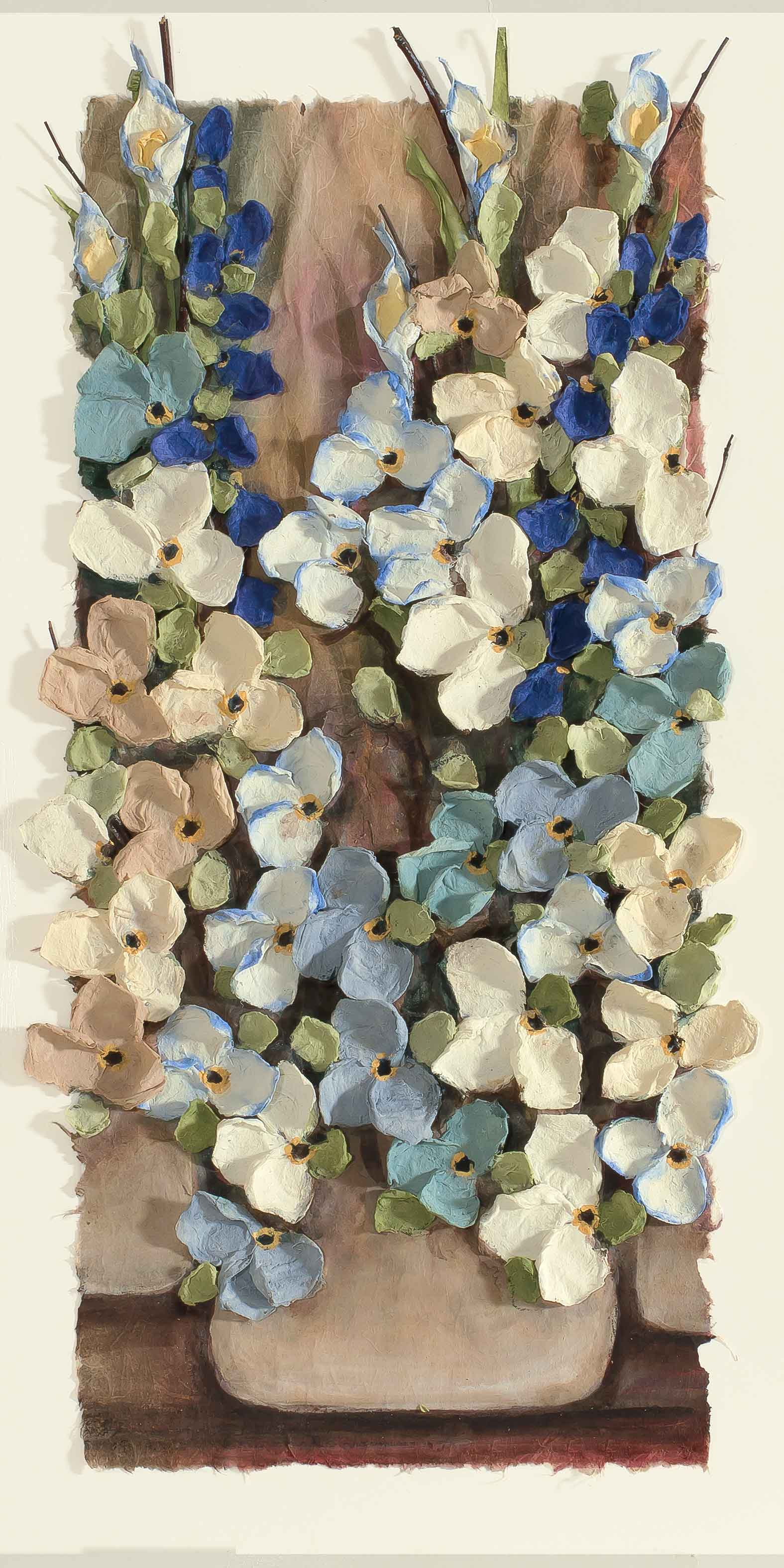 Copy of Mist Floral Blue 12x22