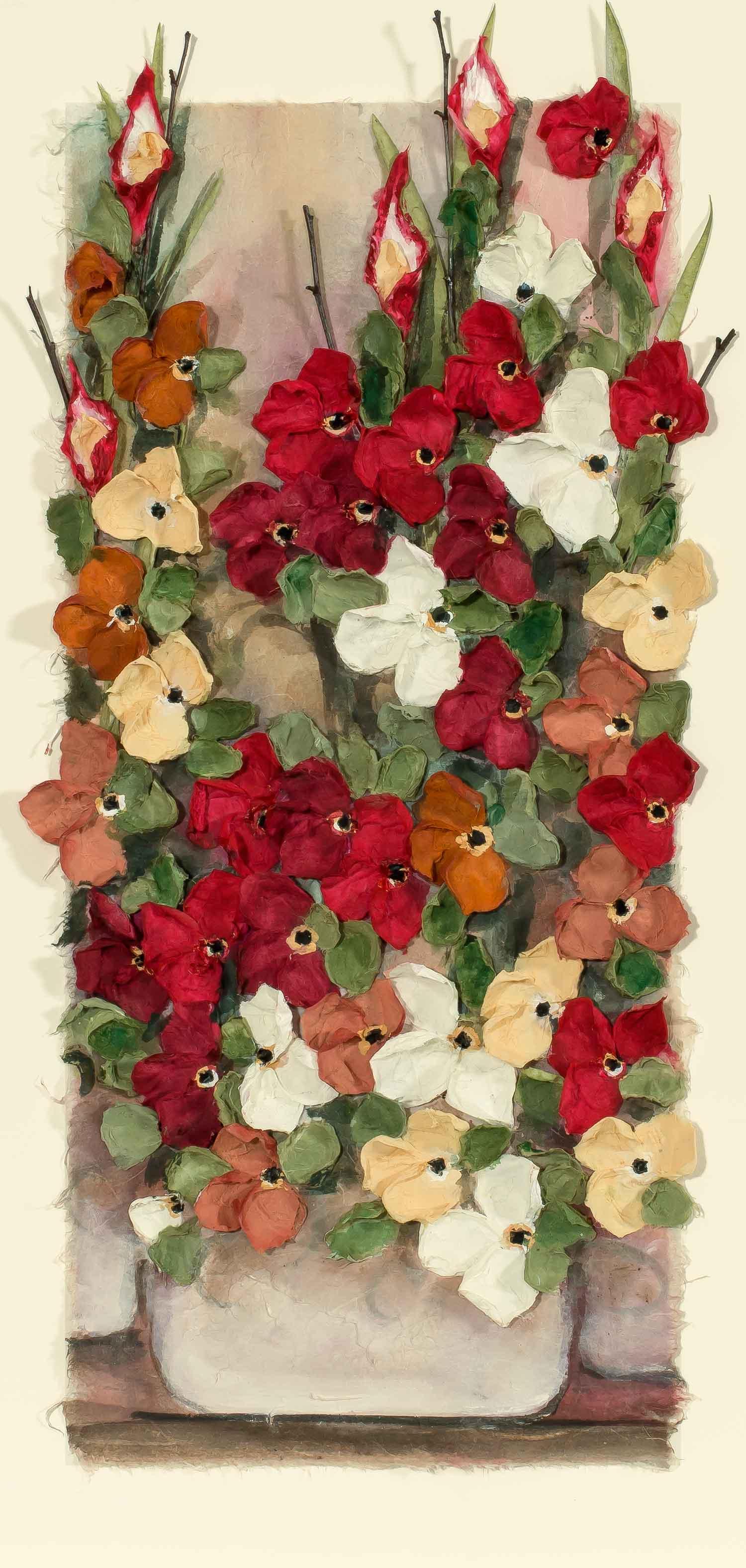 Copy of Mist Floral Red Pot 22x30