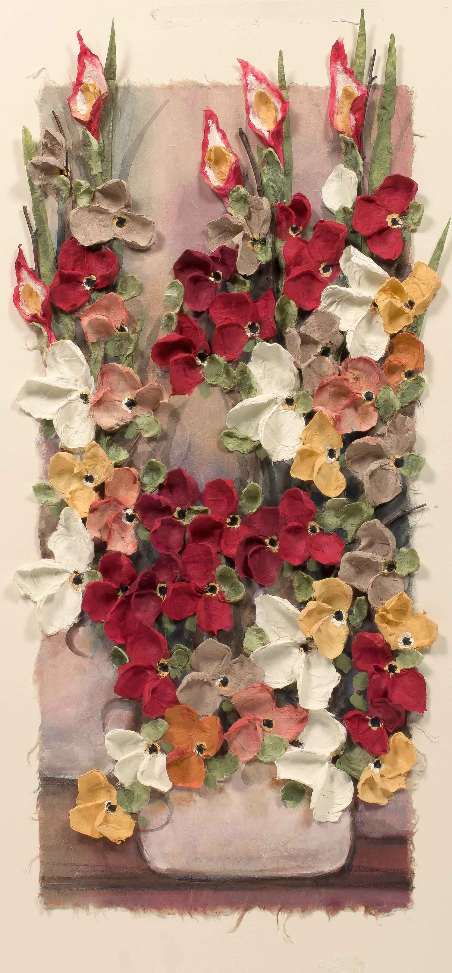 Copy of Mist Floral Red Pot 12x22