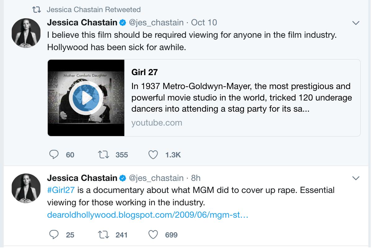 Jessica Chastain Tweet