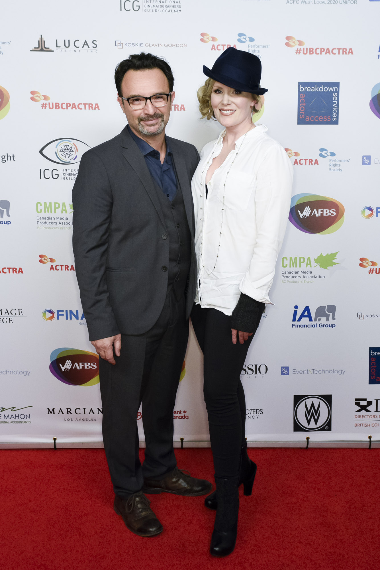 With his wife – actress Jenn MacLean-Angus – at the 2017 UBCP/ACTRA Awards.