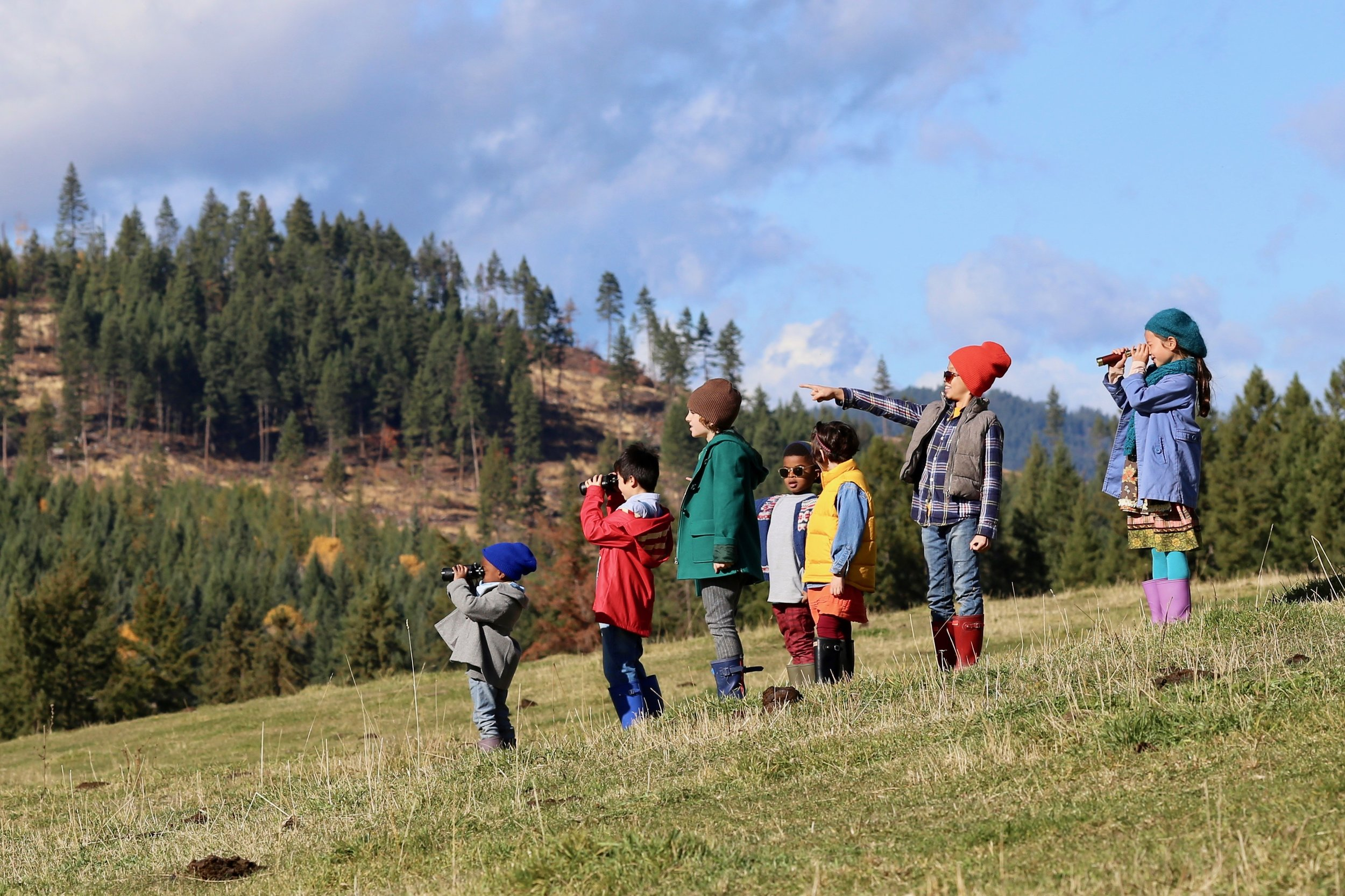 The Gumboot Kids on location.