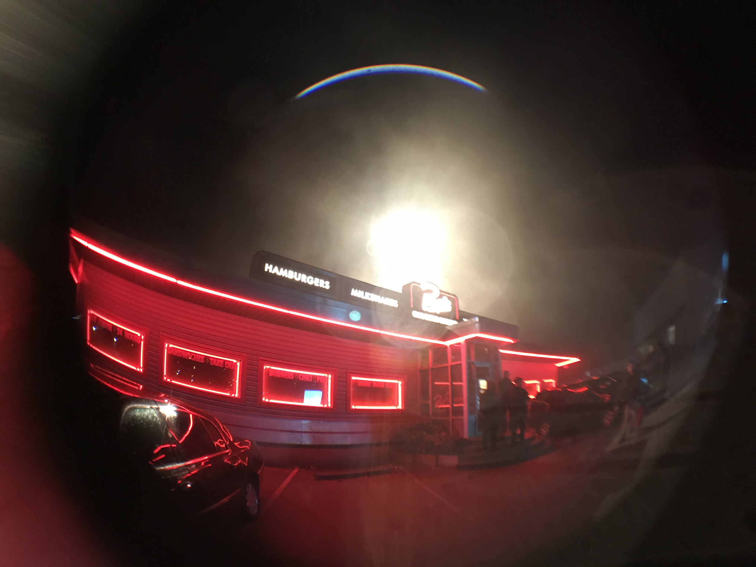 Exterior shot of Pop's Chock'lit Shoppe by Rachel Talalay.