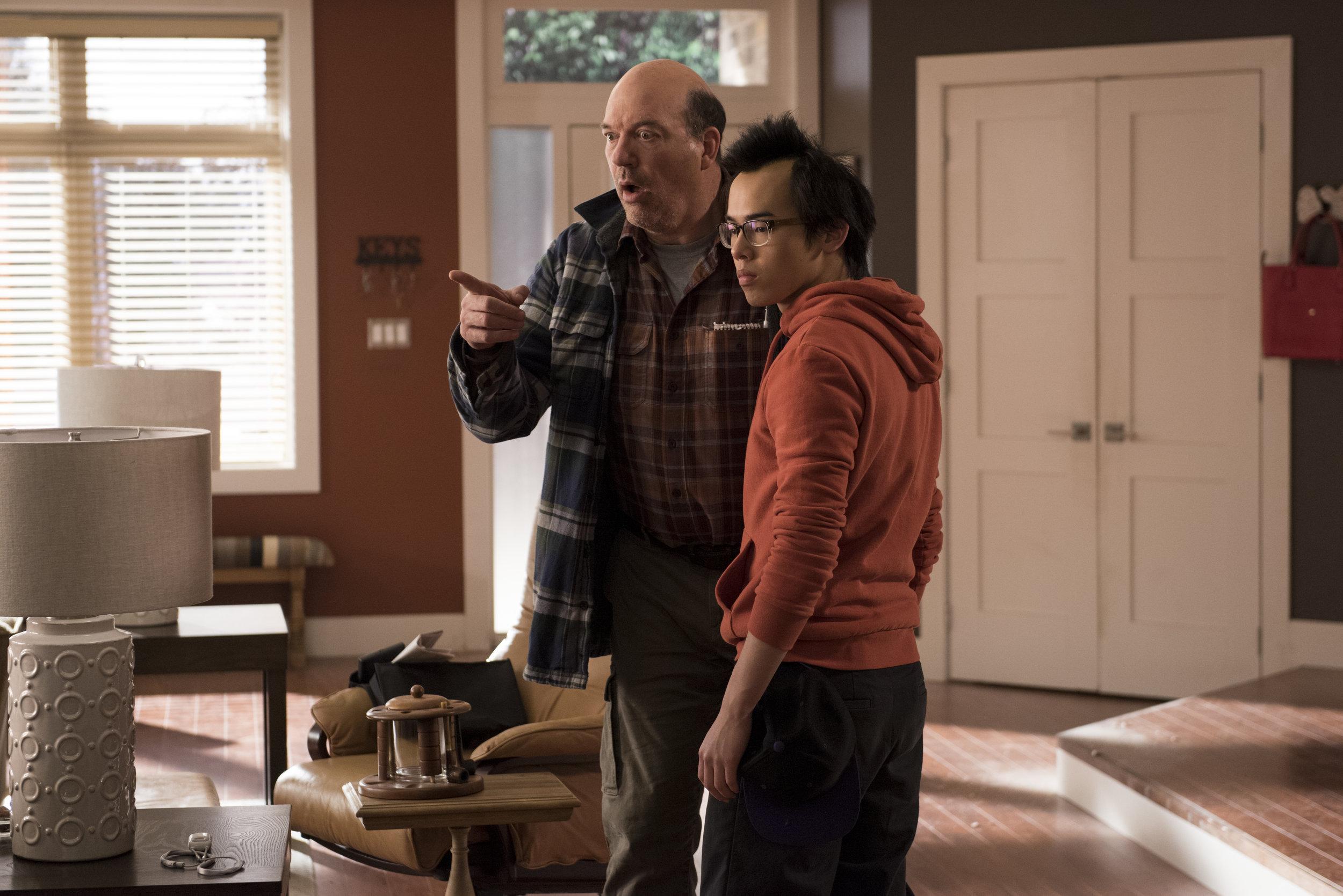 John Carroll Lynch as Owen and Daniel Davis Yang as Brian. Courtesy of CBC (Photo Credit: Christos Kalohoridis)