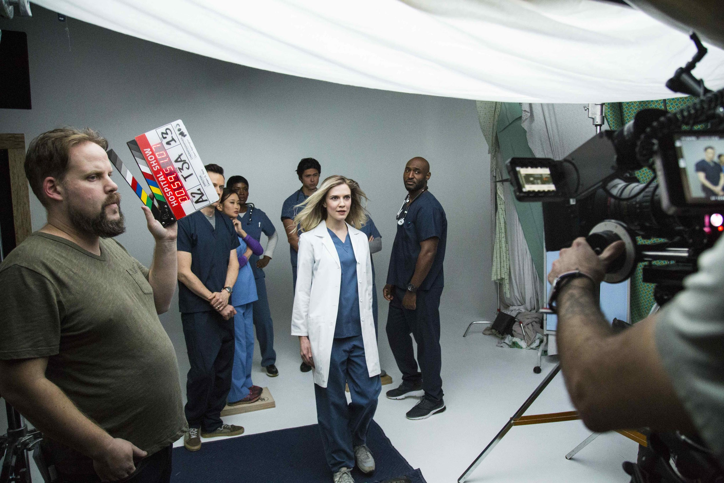Behind the scenes on the set of  Hospital Show .