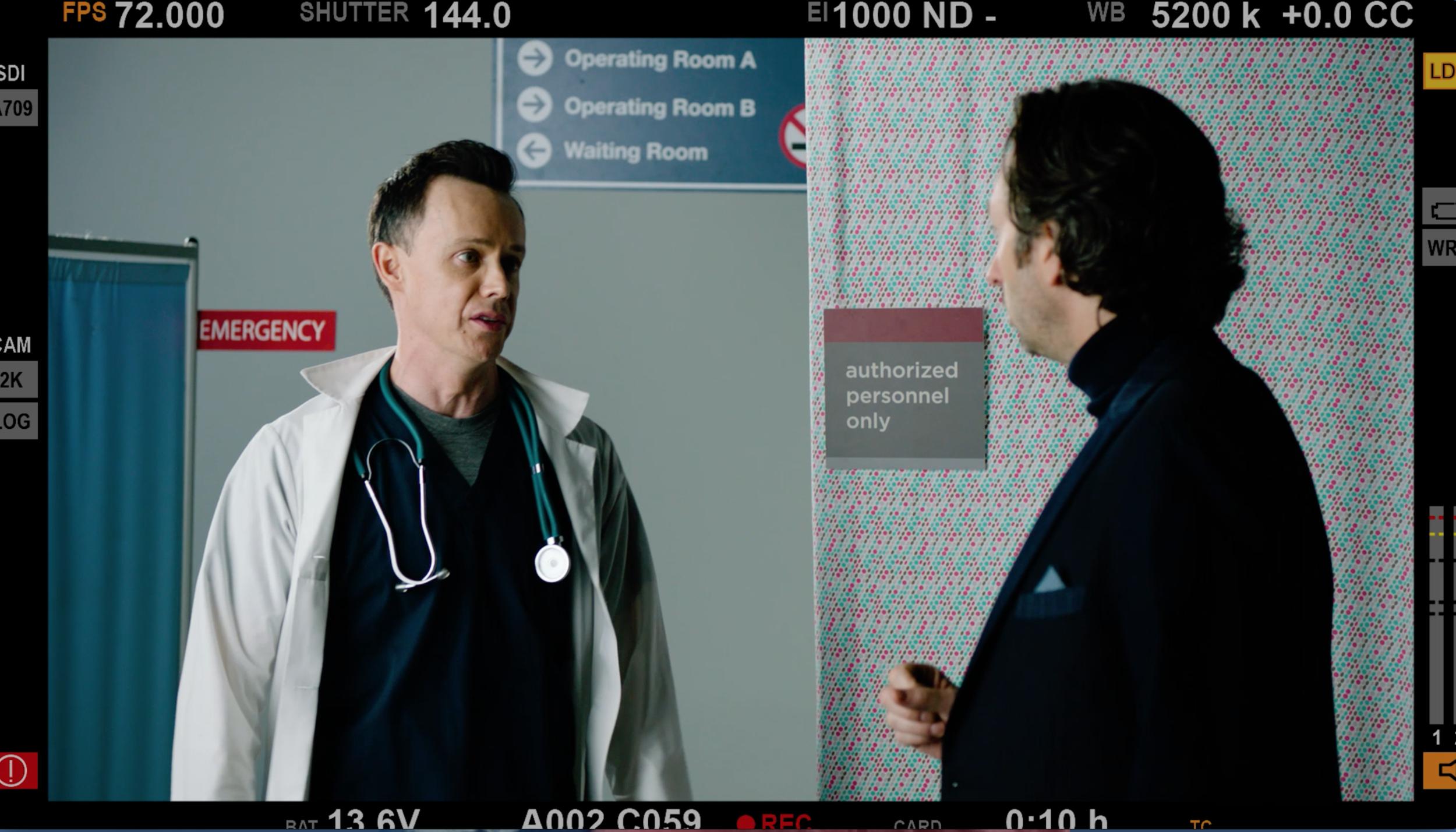 Adam Greydon Reid and David Milchard in  Hospital Show .