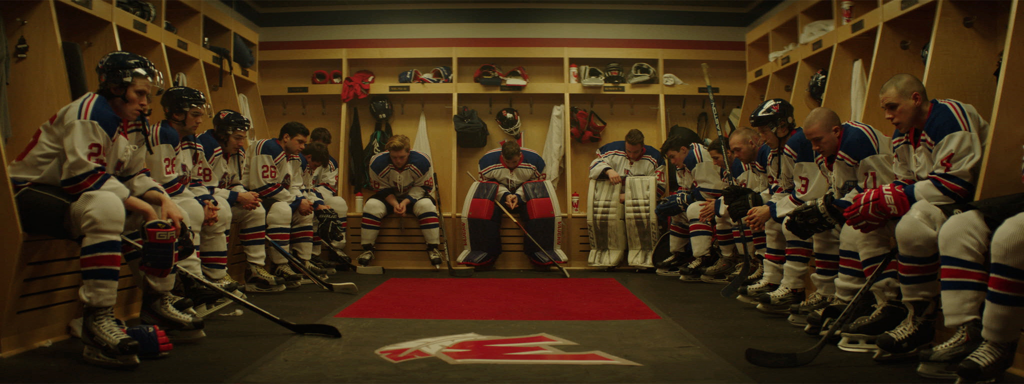 A still from Kevan Funk's award-winning feature film  Hello Destroyer , which explores violence in hockey culture and the impact it has on individuals, families, and communities.
